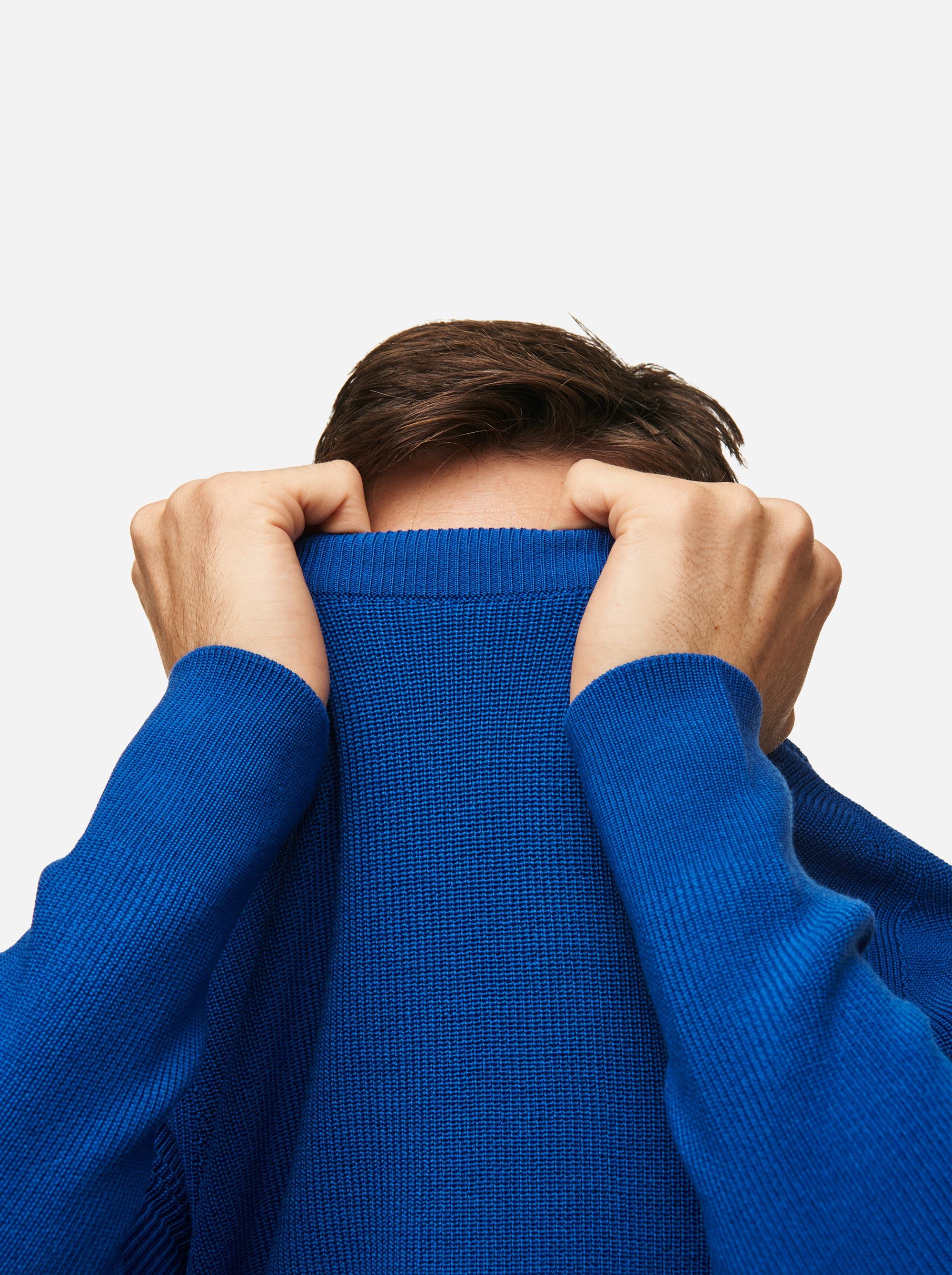Teym - Crewneck - The Merino Sweater - Men - Cobalt blue - 3