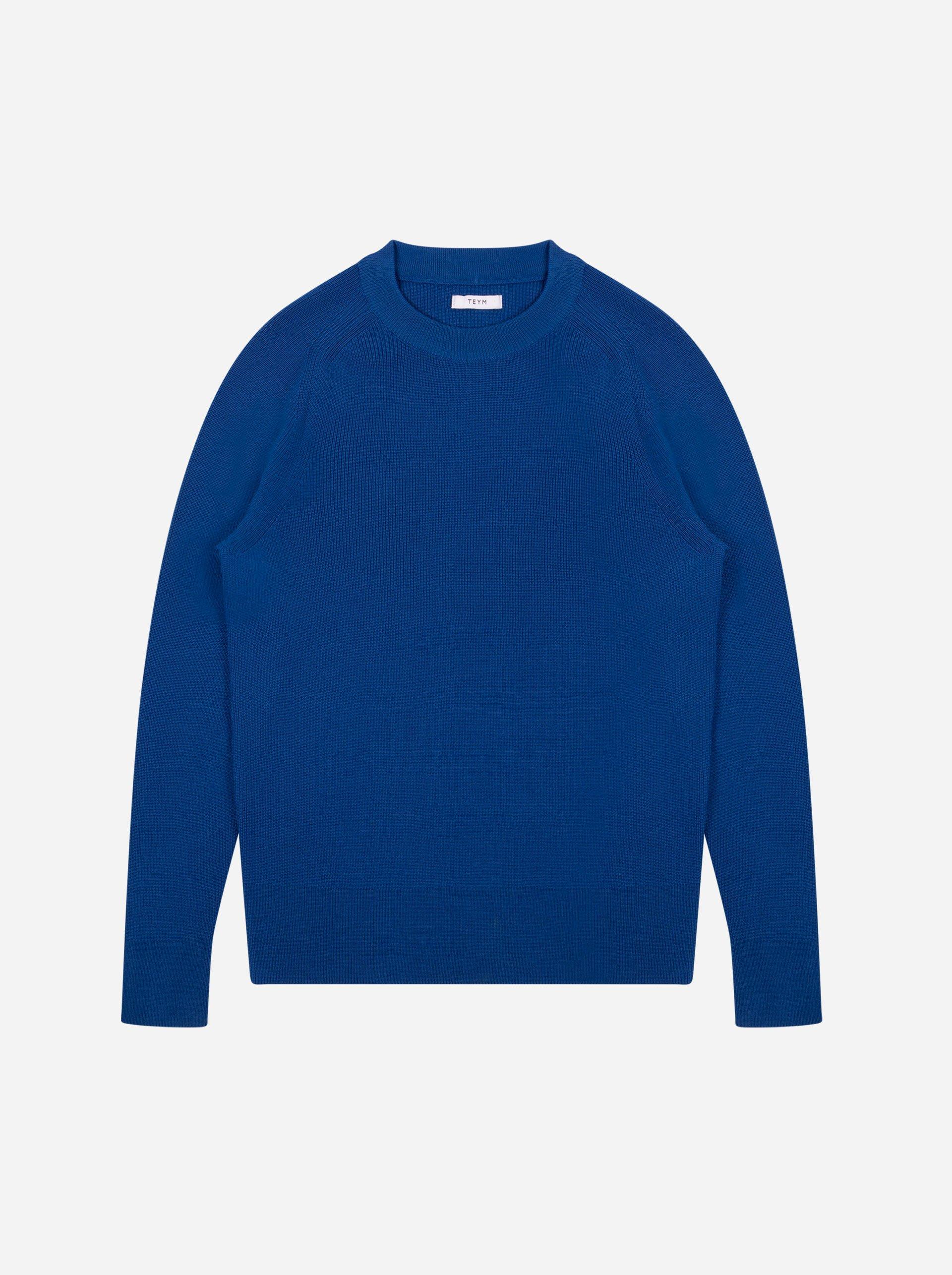 Teym - Crewneck - The Merino Sweater - Men - Cobalt blue - 4
