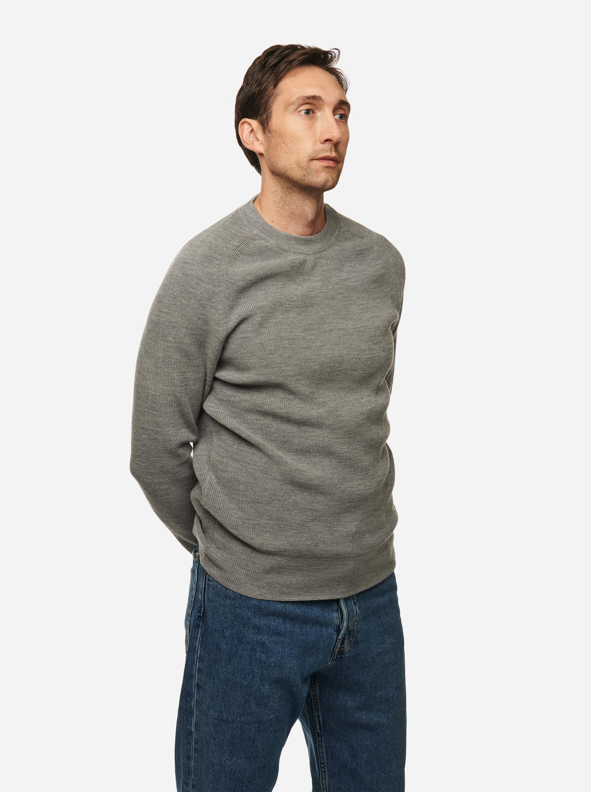 Teym - Crewneck - The Merino Sweater - Men - Grey - 2