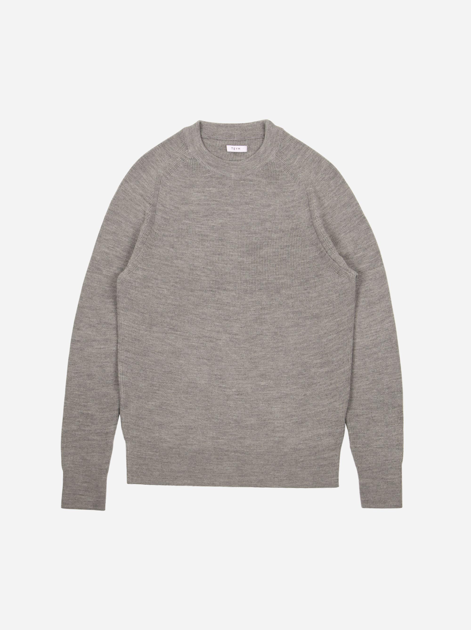 Teym - Crewneck - The Merino Sweater - Men - Grey - 5