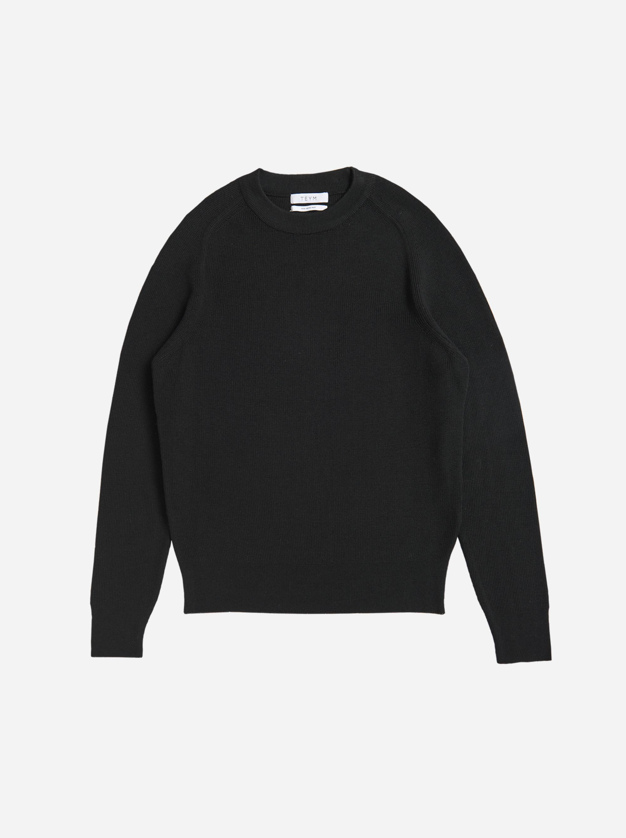 Teym - Crewneck - The Merino Sweater - Women - Black - 4