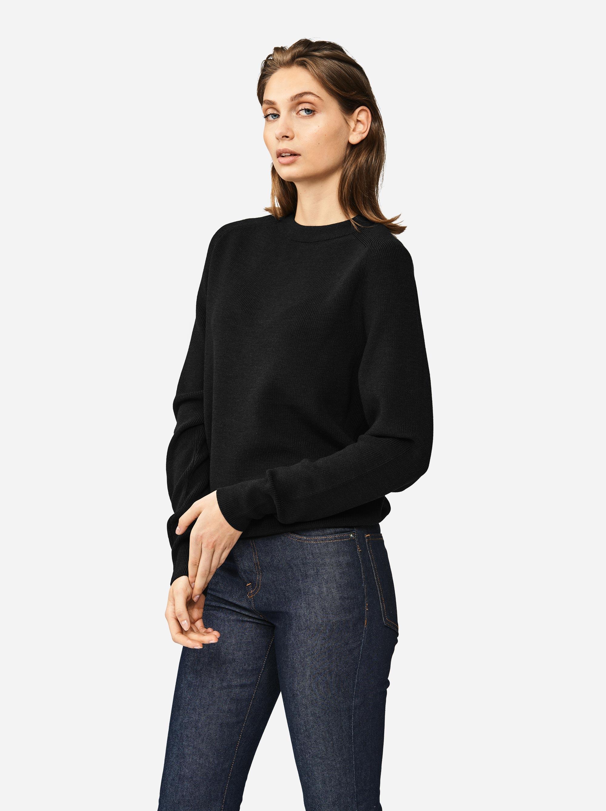 Teym - Crewneck - The Merino Sweater - Women - Black - 5