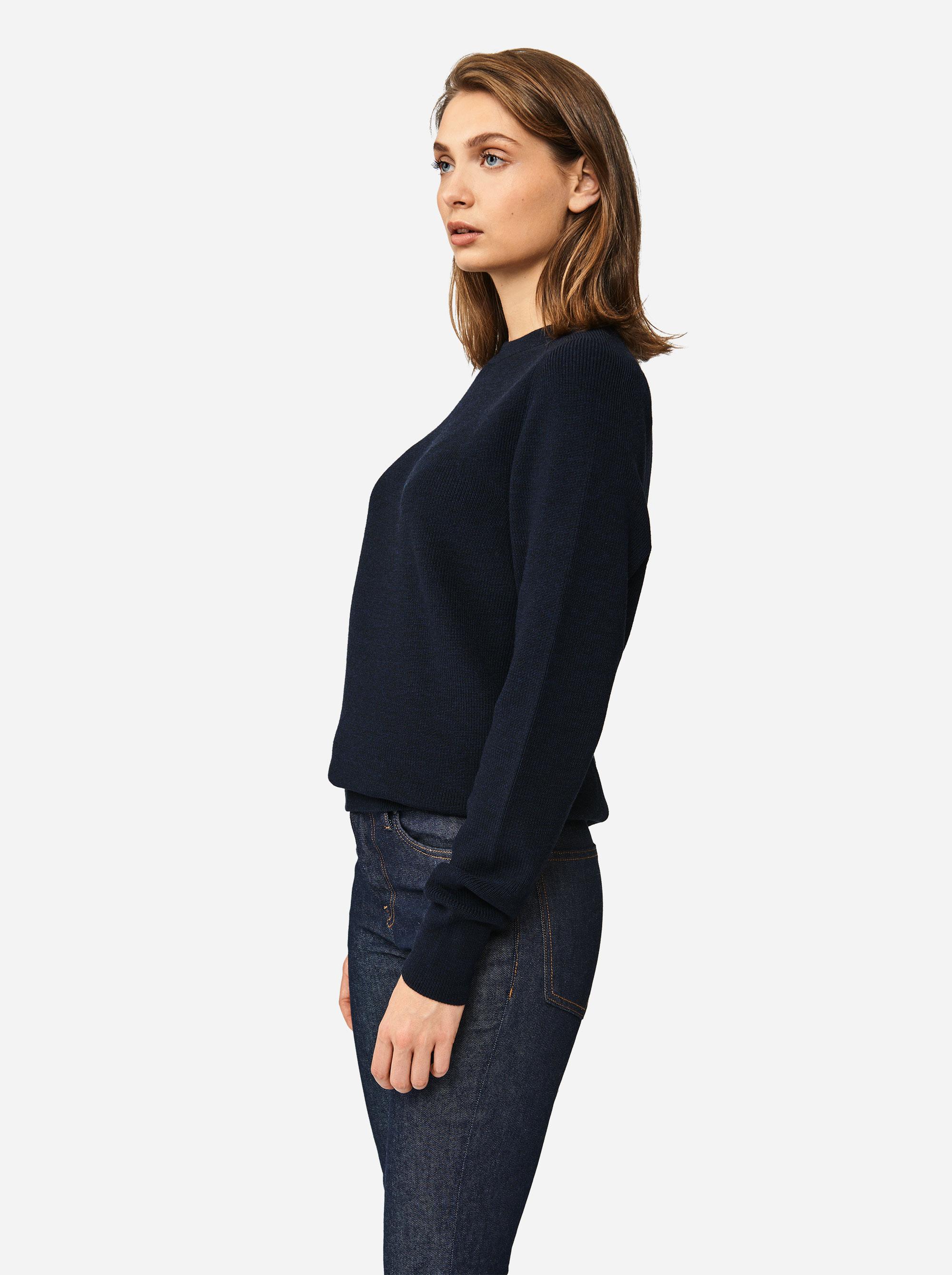 Teym - Crewneck - The Merino Sweater - Women - Blue - 1