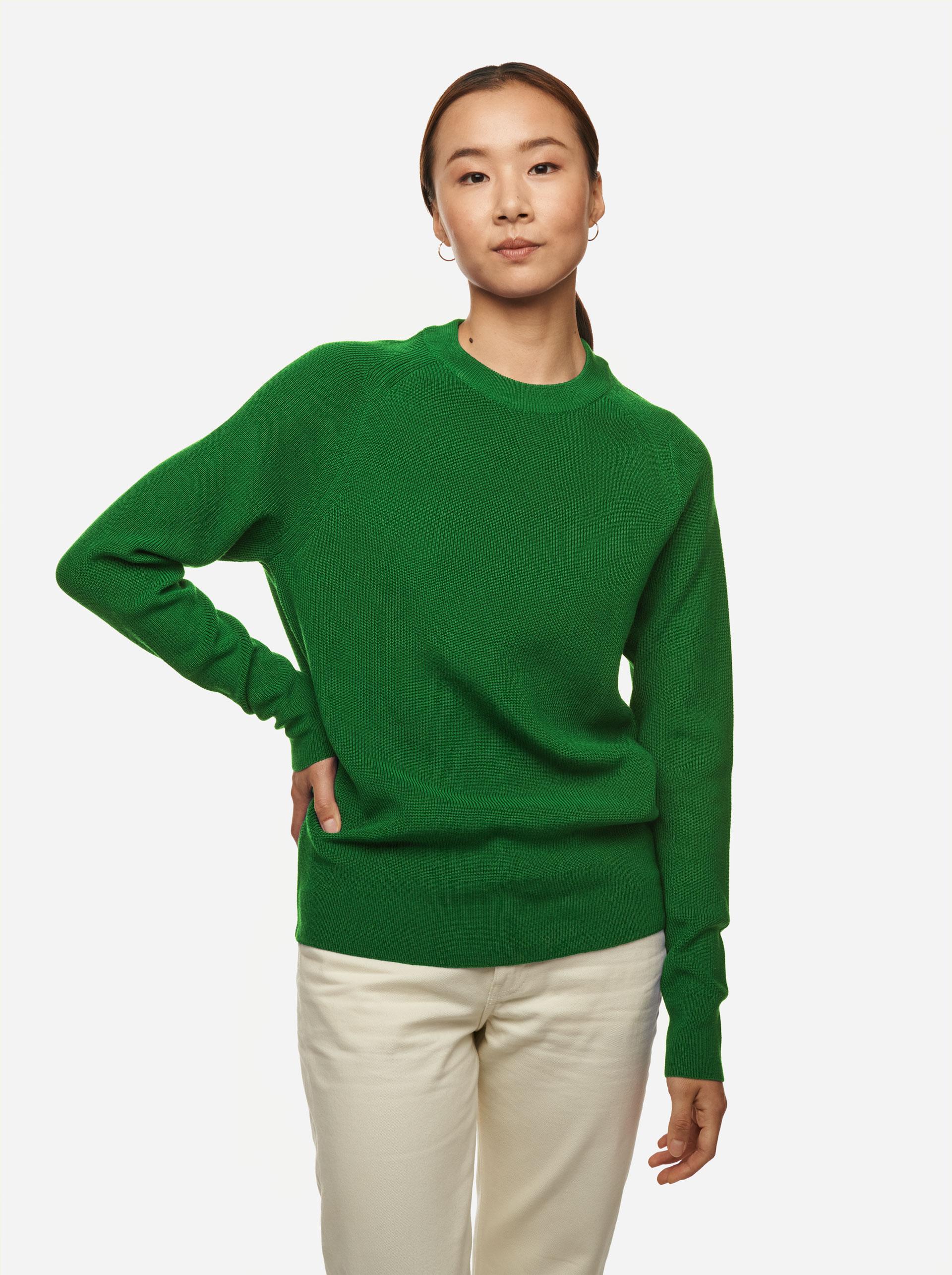 Teym - Crewneck - The Merino Sweater - Women - Brigh Green - 1