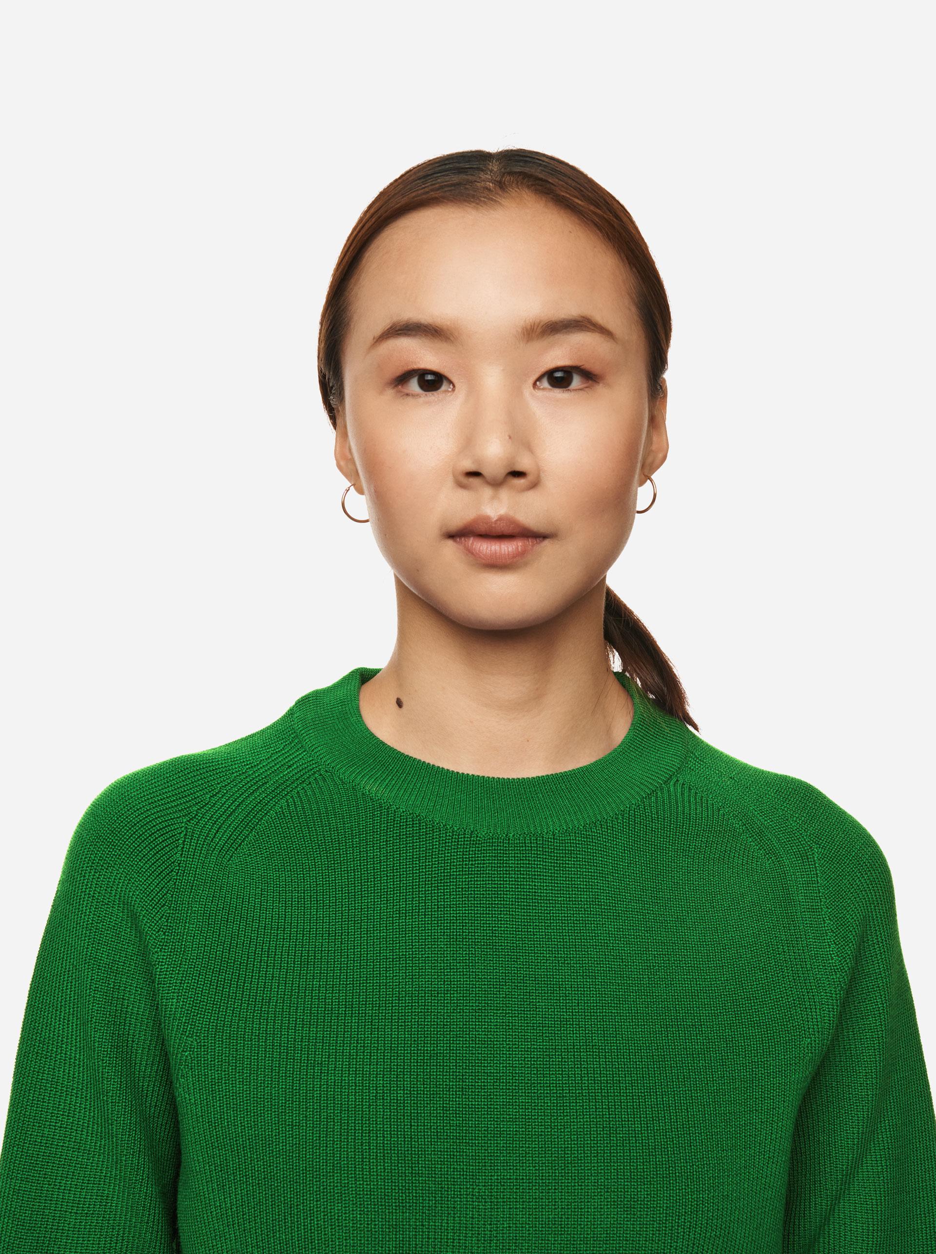 Teym - Crewneck - The Merino Sweater - Women - Brigh Green - 3