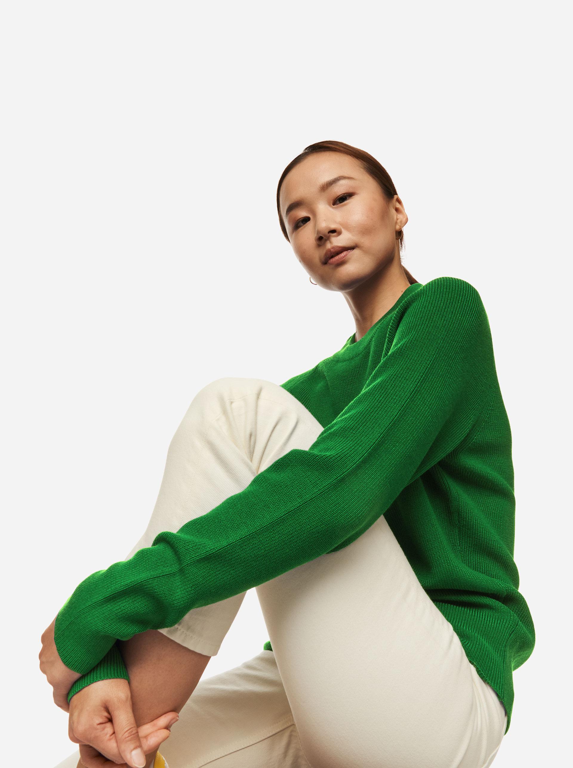 Teym - Crewneck - The Merino Sweater - Women - Brigh Green - 4