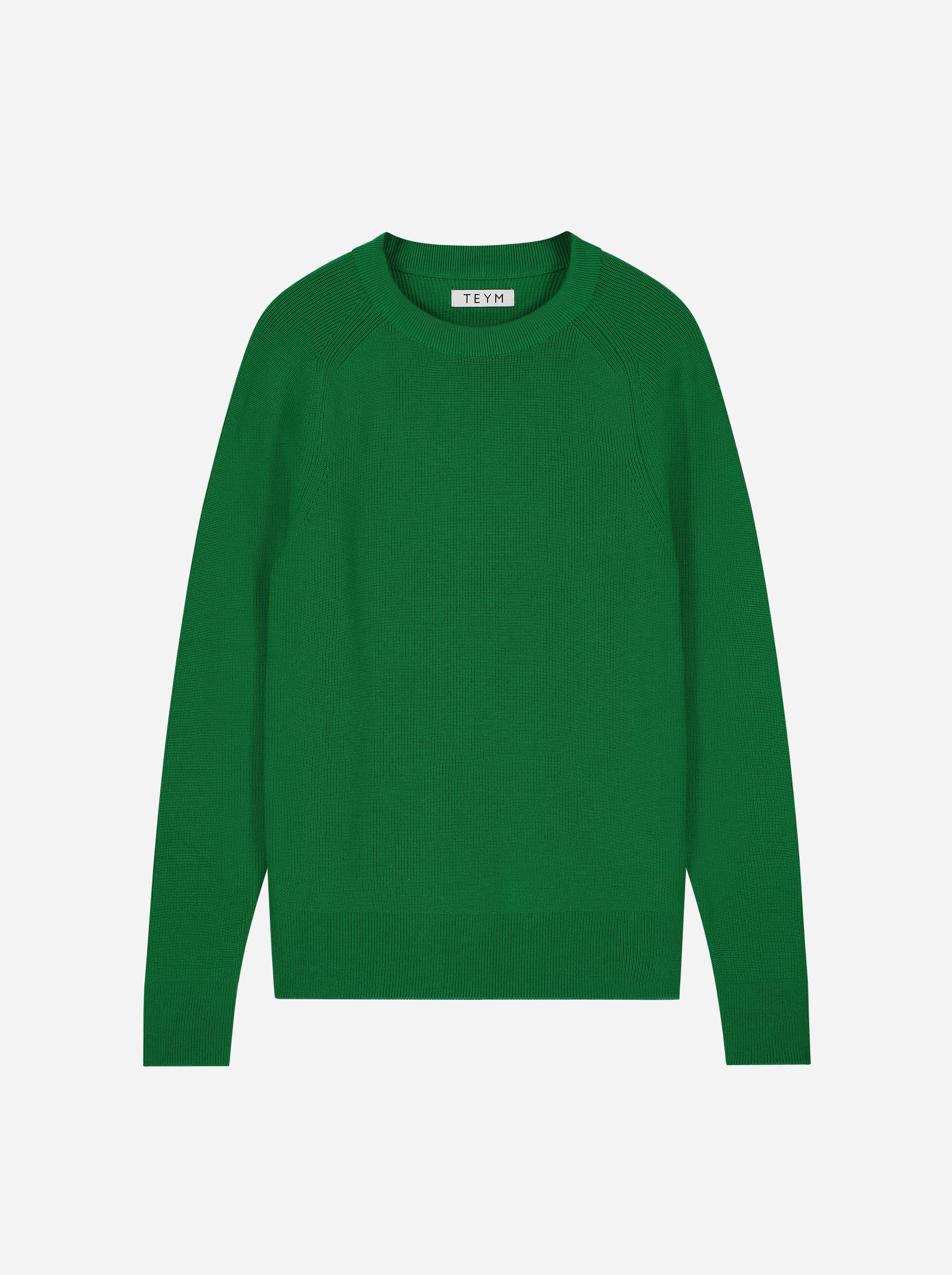 Teym - Crewneck - The Merino Sweater - Women - Brigh Green - 5