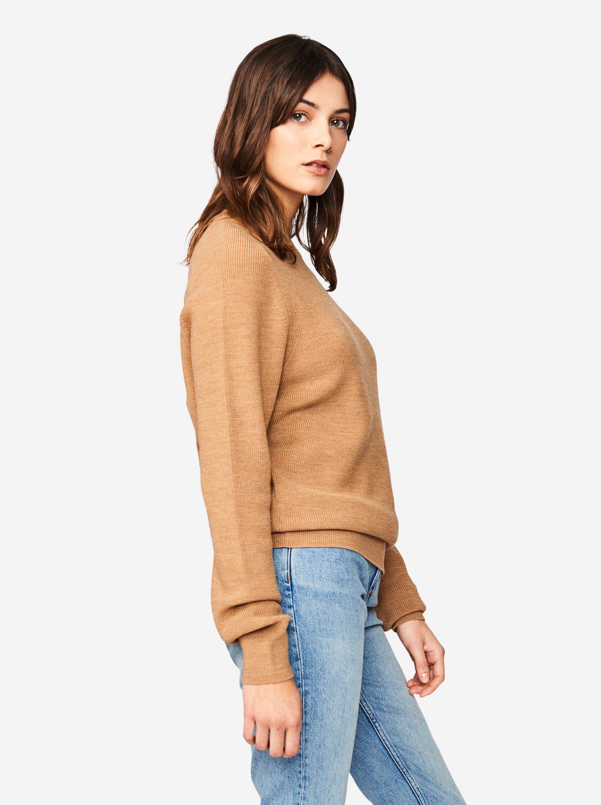 Teym - Crewneck - The Merino Sweater - Women - Camel - 1