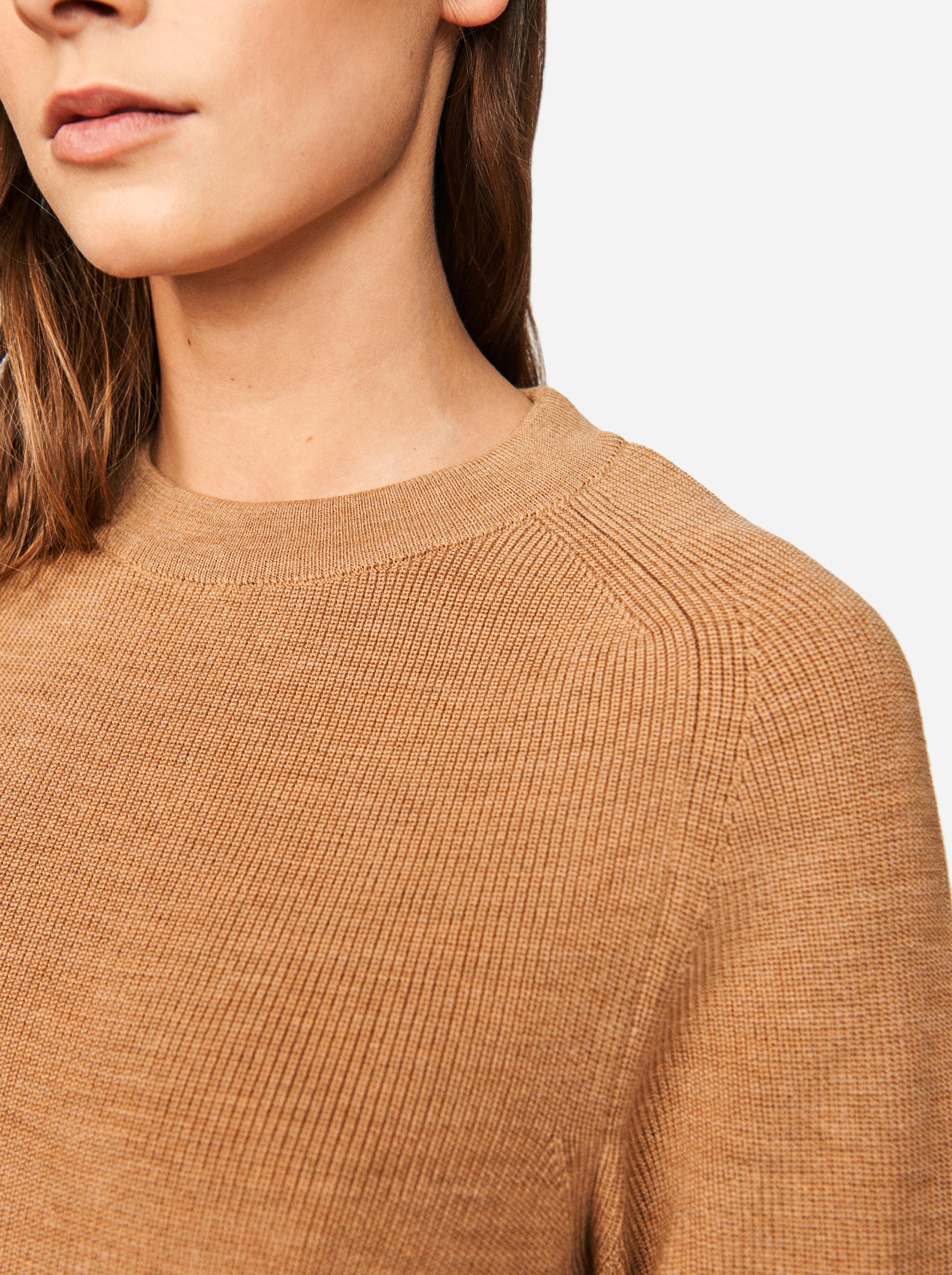 Teym - Crewneck - The Merino Sweater - Women - Camel - 2