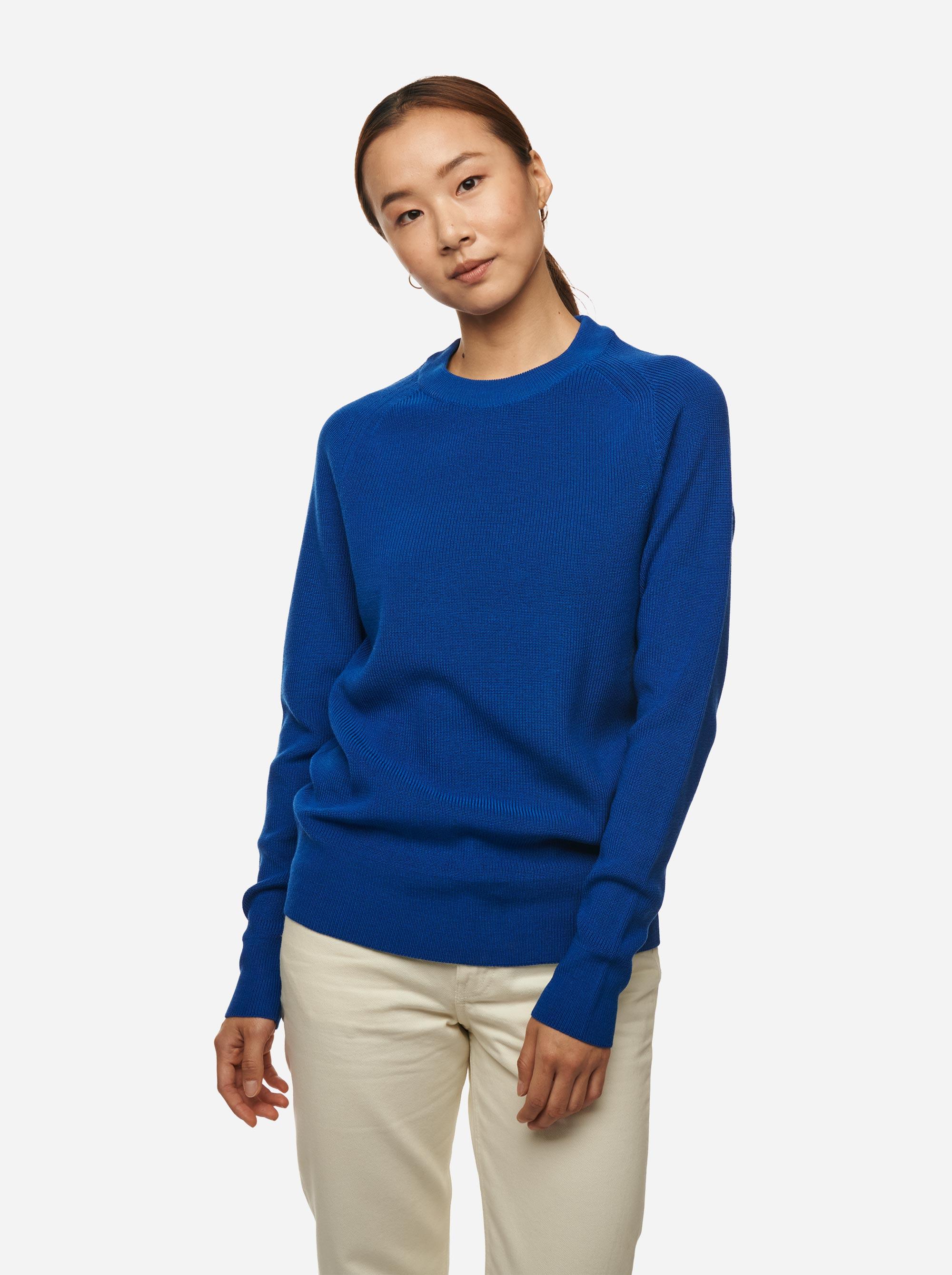 Teym - Crewneck - The Merino Sweater - Women - Cobalt Blue - 2
