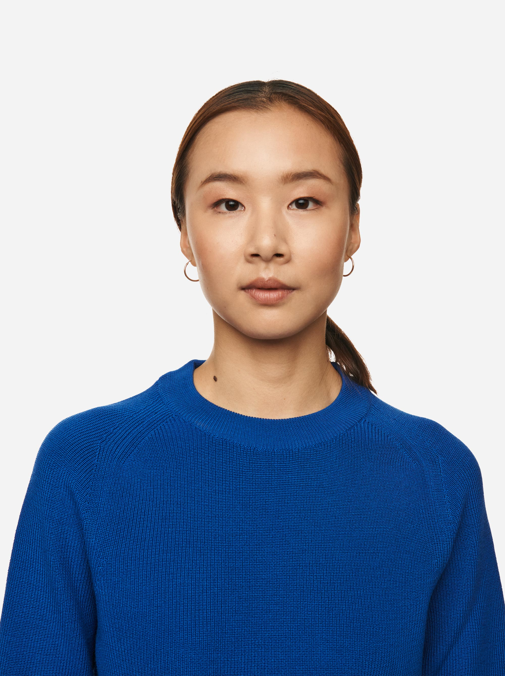 Teym - Crewneck - The Merino Sweater - Women - Cobalt Blue - 3
