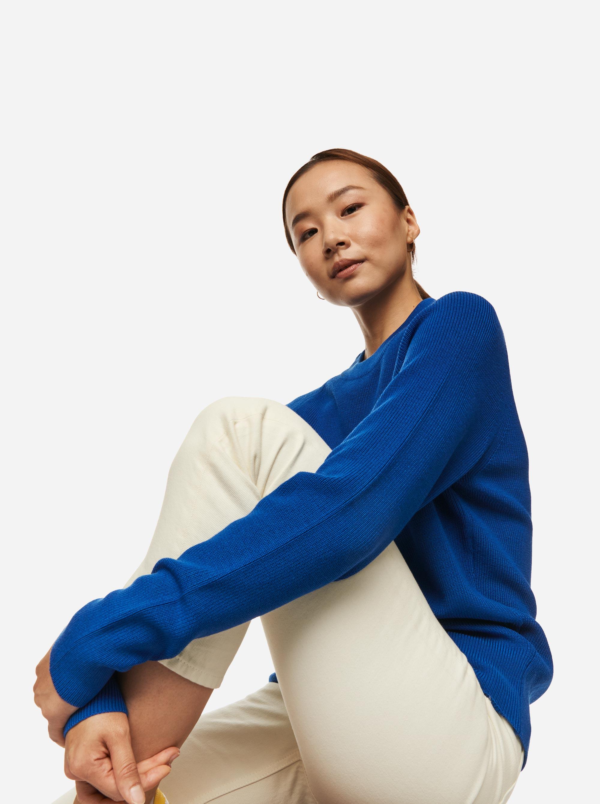 Teym - Crewneck - The Merino Sweater - Women - Cobalt Blue - 4