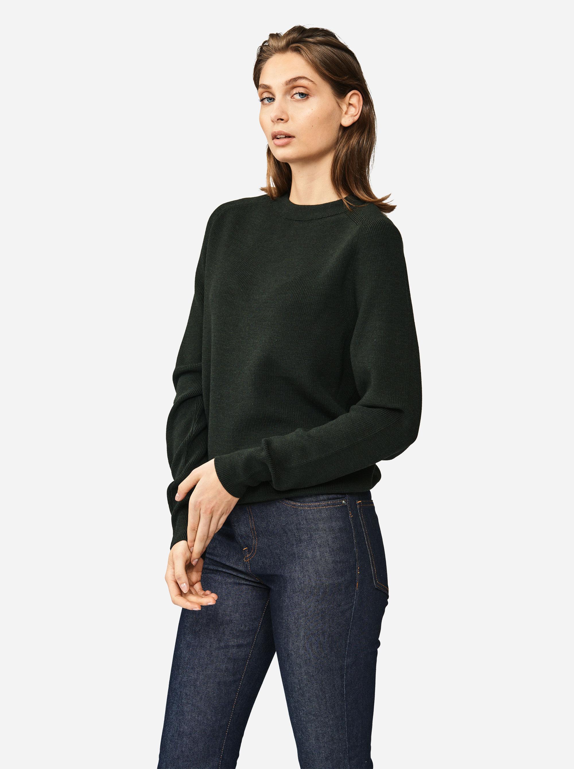 Teym - Crewneck - The Merino Sweater - Women - Green - 1