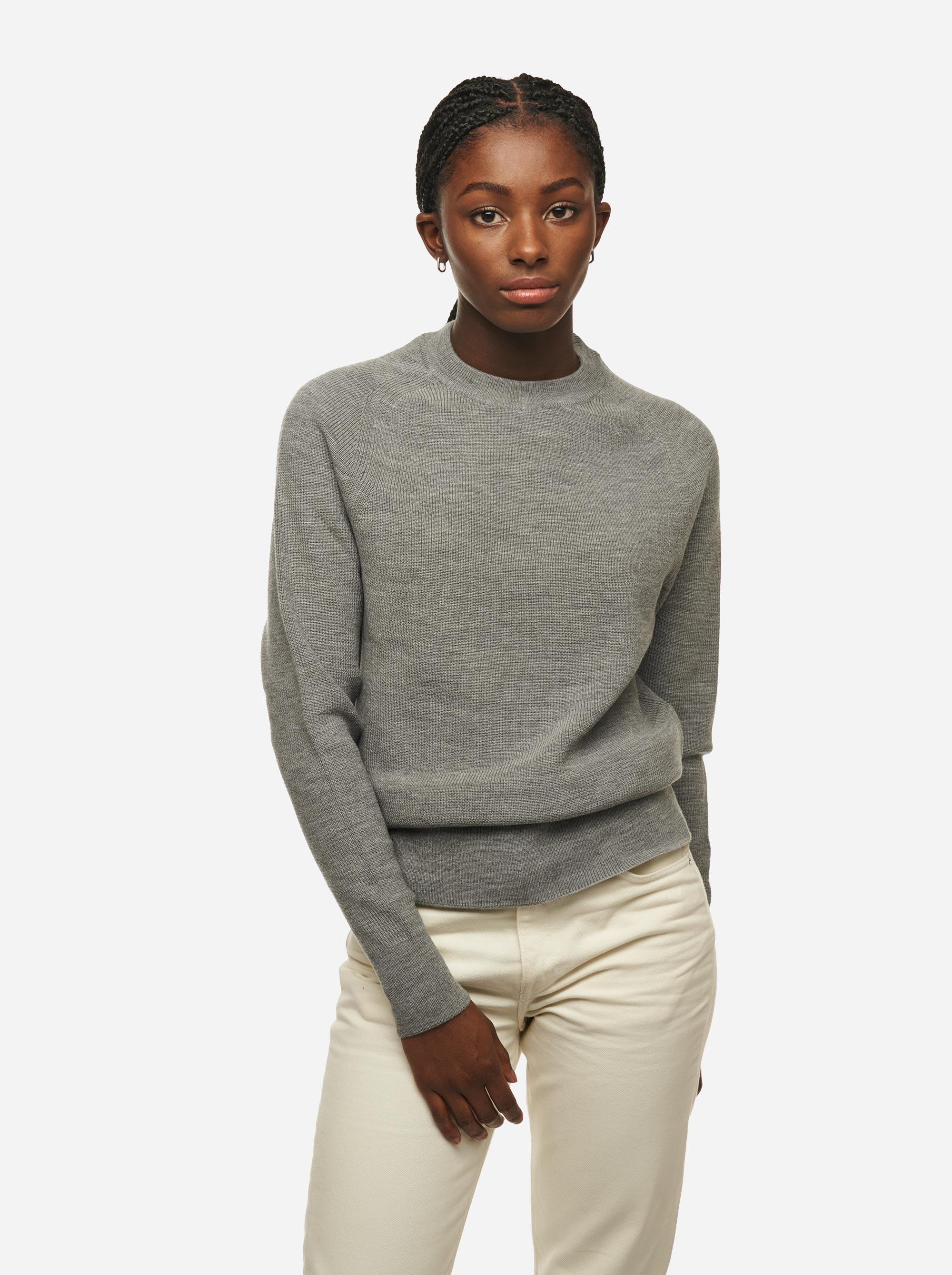 Teym - Crewneck - The Merino Sweater - Women - Grey - 1