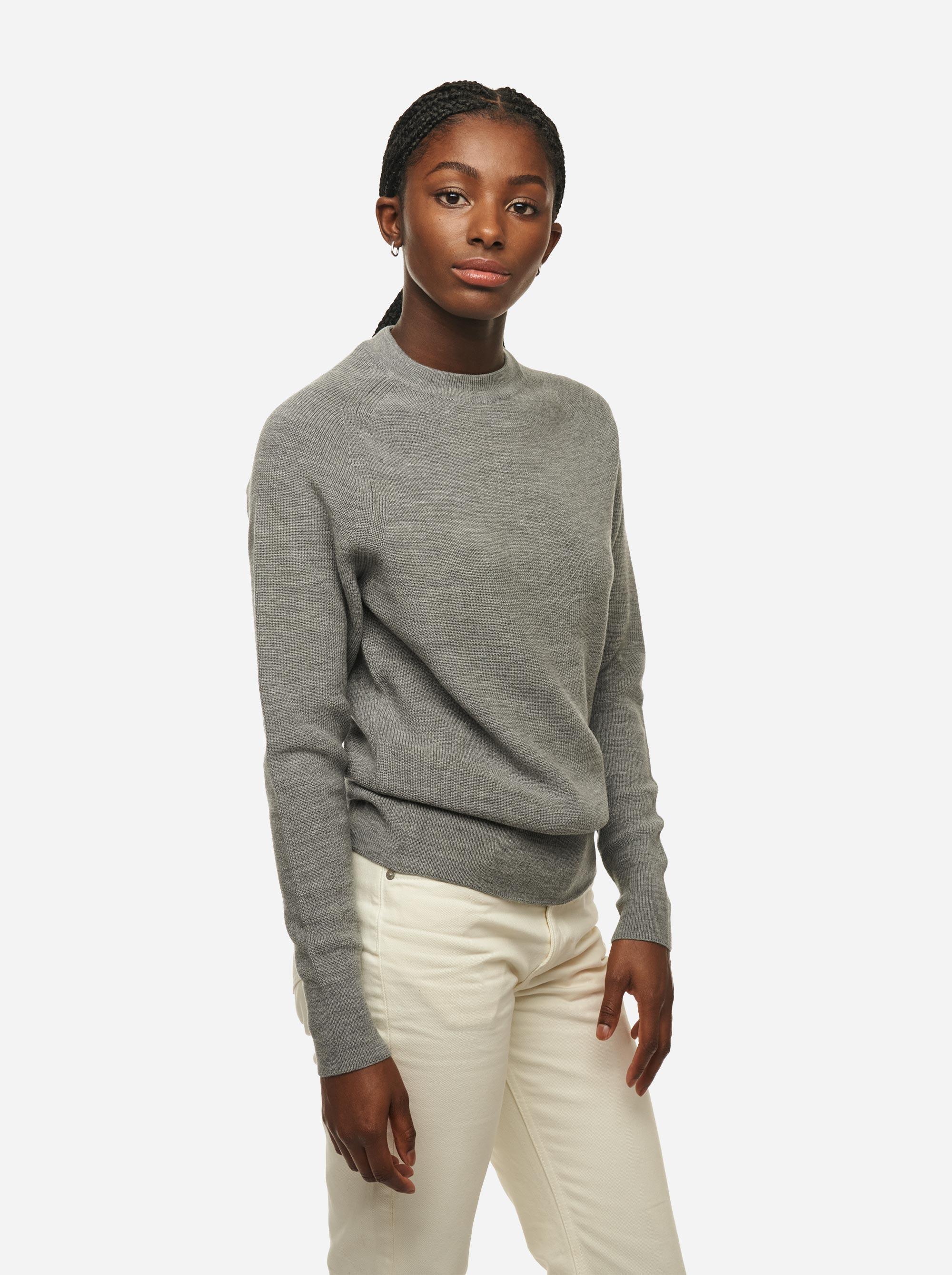 Teym - Crewneck - The Merino Sweater - Women - Grey - 2