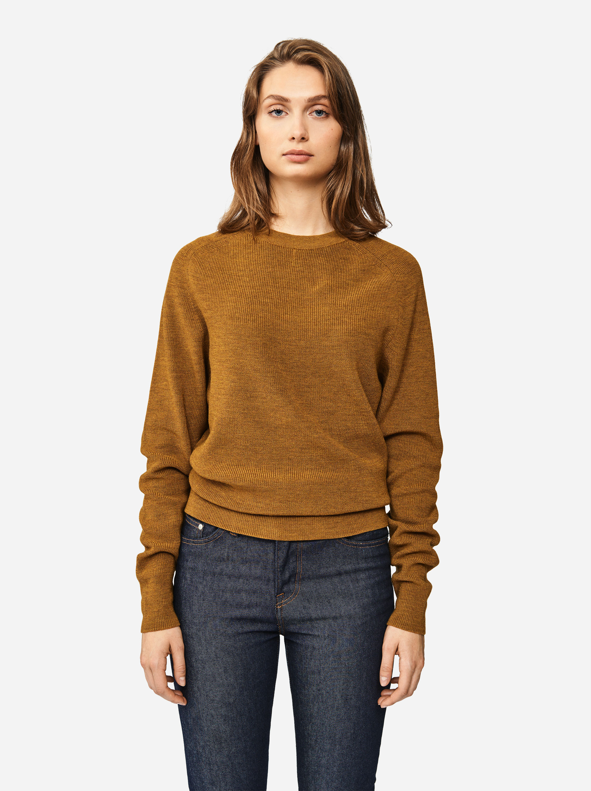 Teym - Crewneck - The Merino Sweater - Women - Mustard - 3