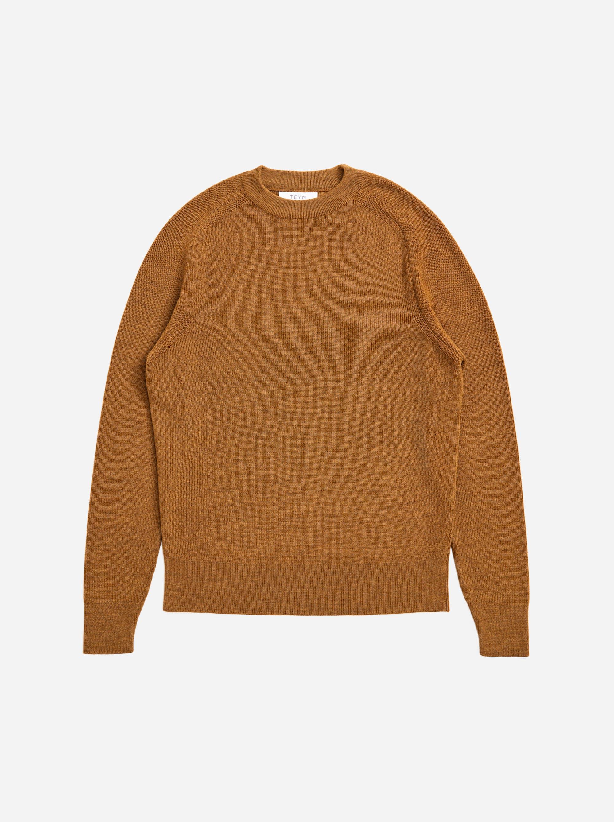 Teym - Crewneck - The Merino Sweater - Women - Mustard - 4