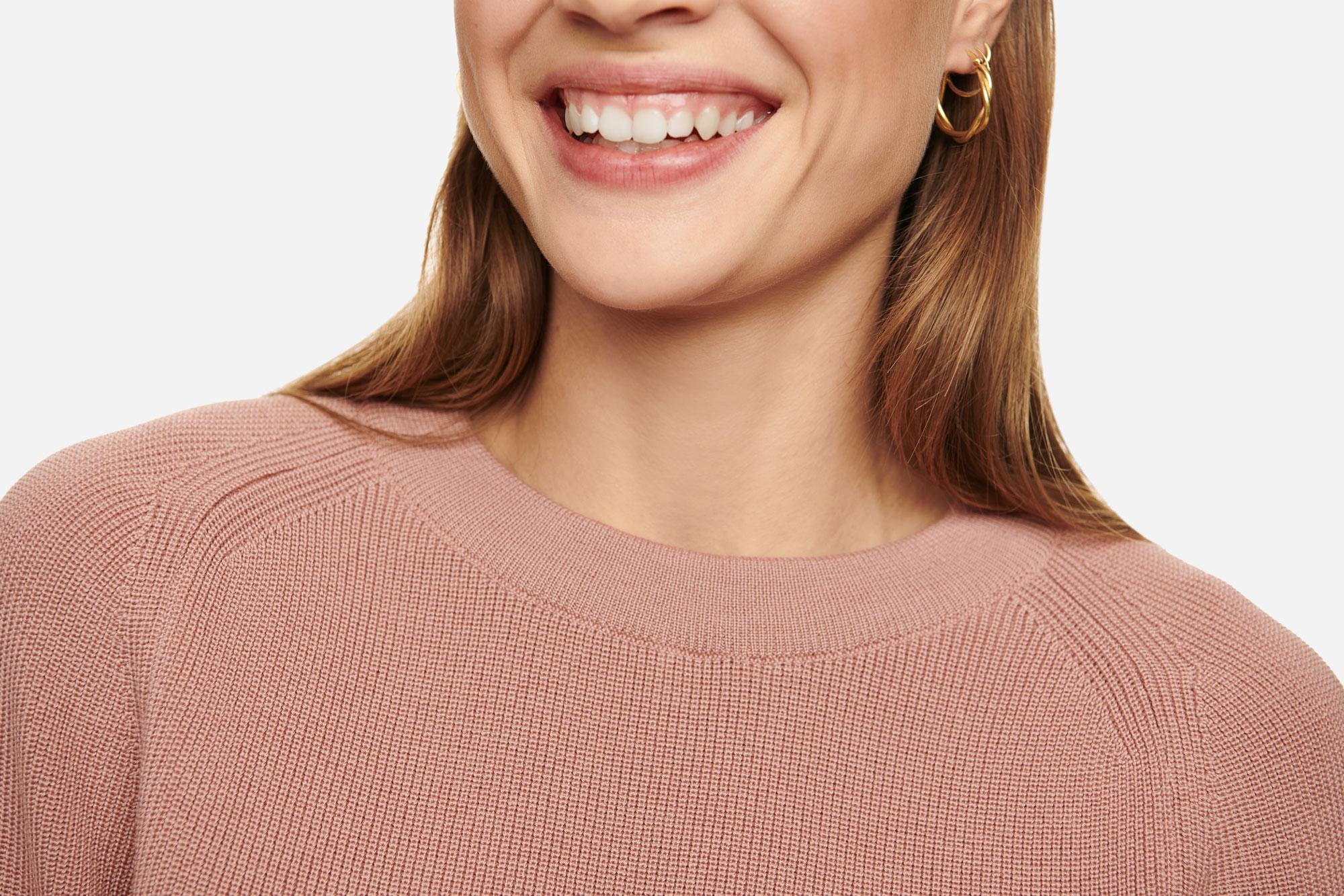 Teym - Crewneck - The Merino Sweater - Women - Pink - 3