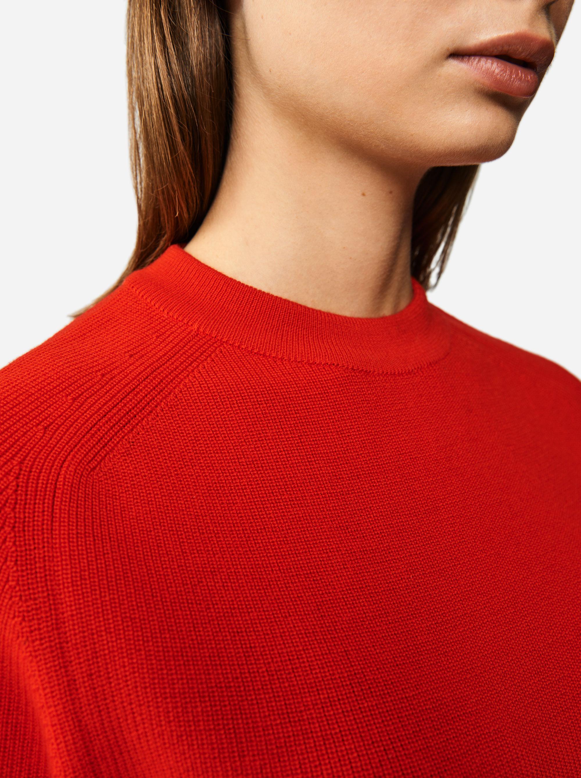 Teym - Crewneck - The Merino Sweater - Women - Red - 2