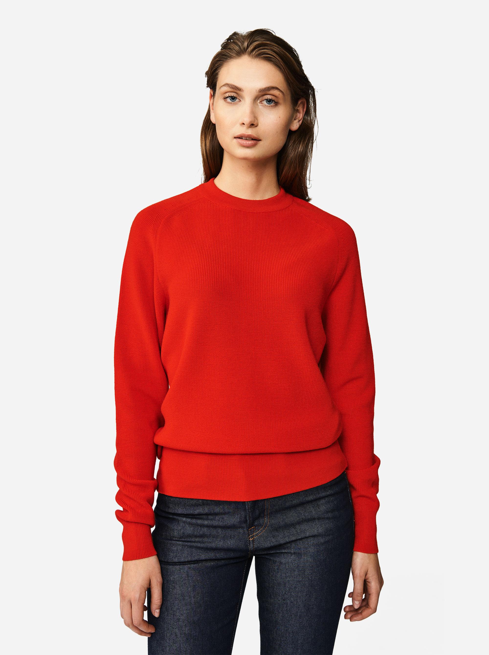 Teym - Crewneck - The Merino Sweater - Women - Red - 3