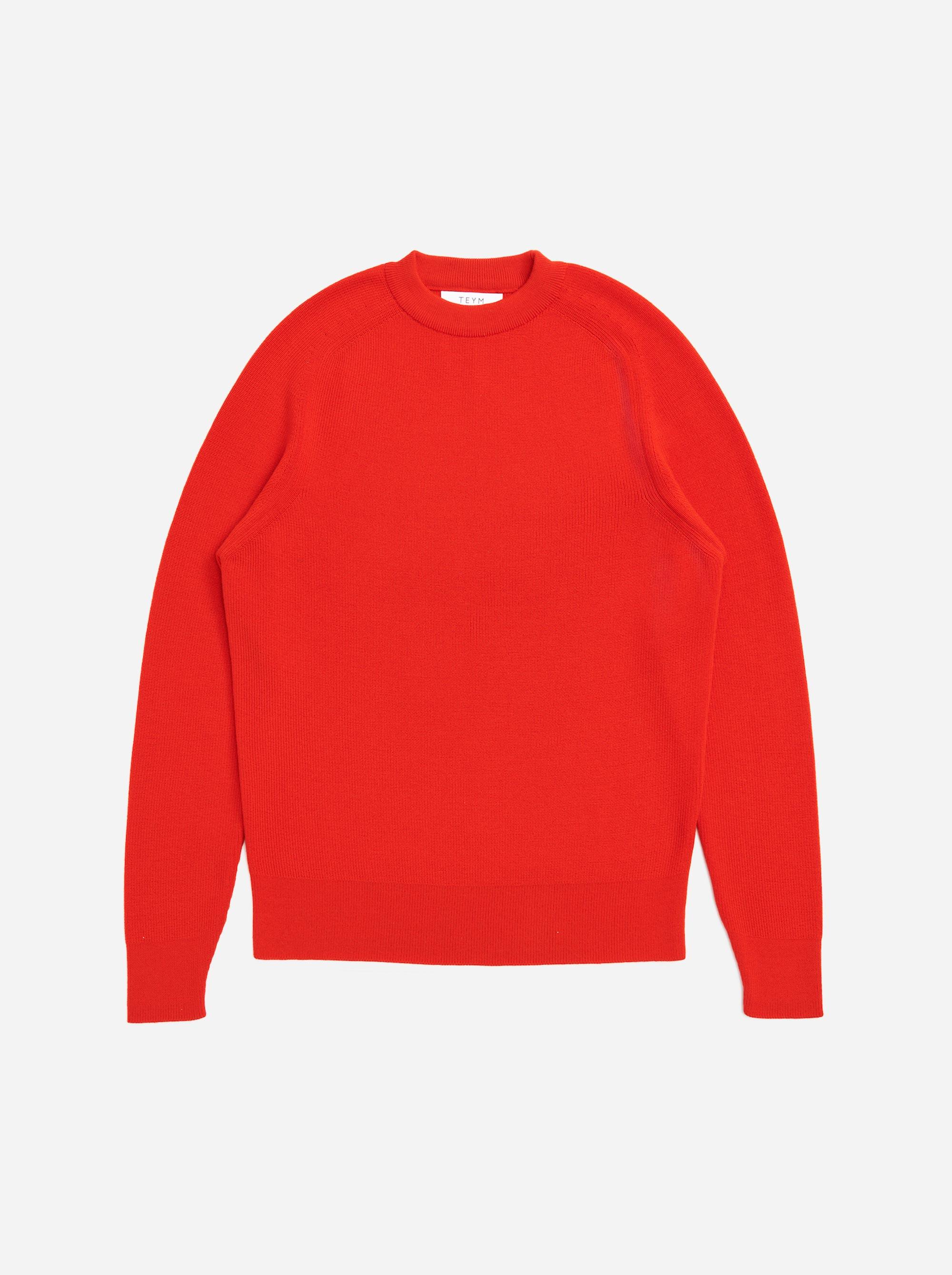 Teym - Crewneck - The Merino Sweater - Women - Red - 4