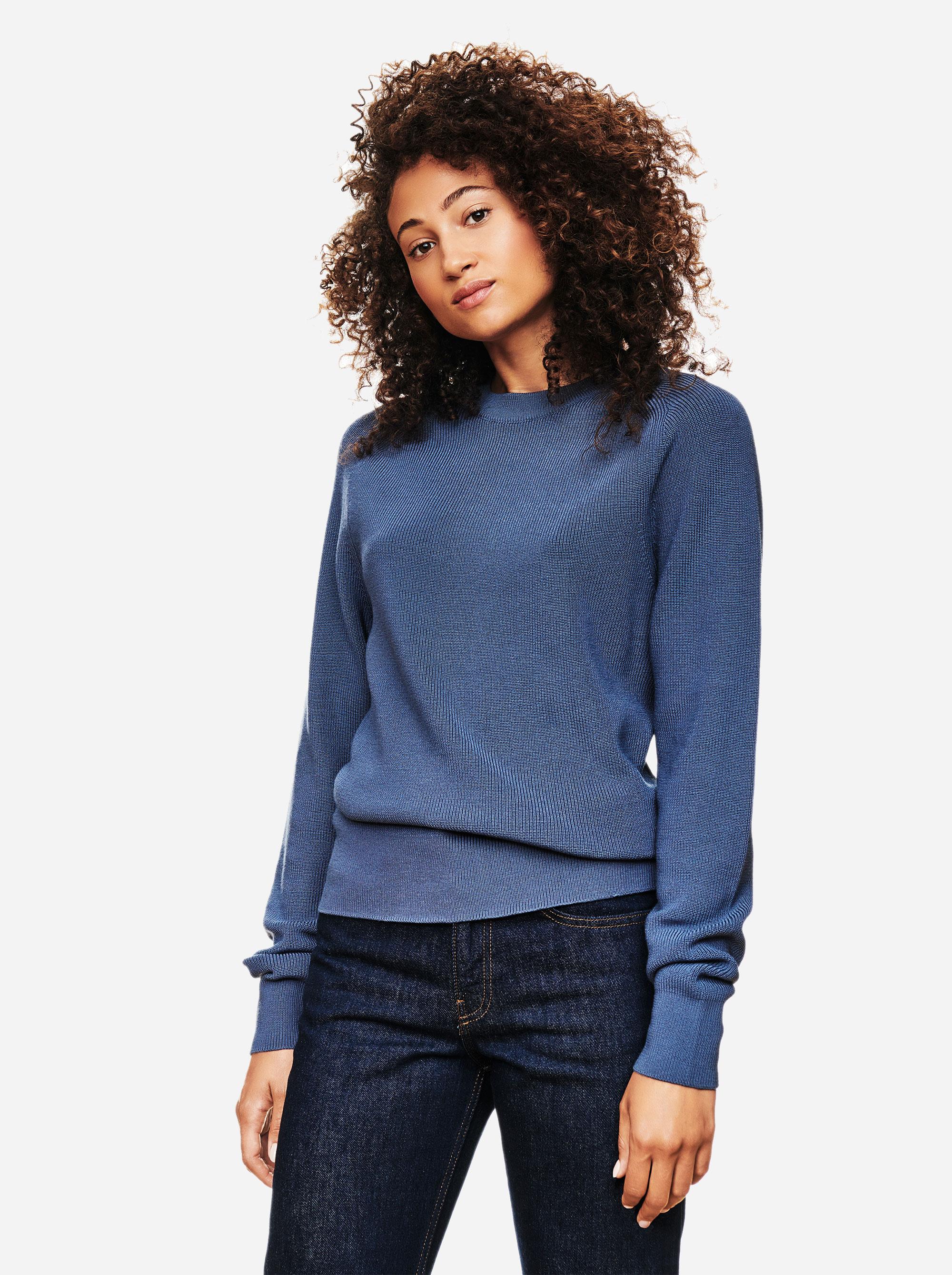 Teym - Crewneck - The Merino Sweater - Women - Sky blue - 1