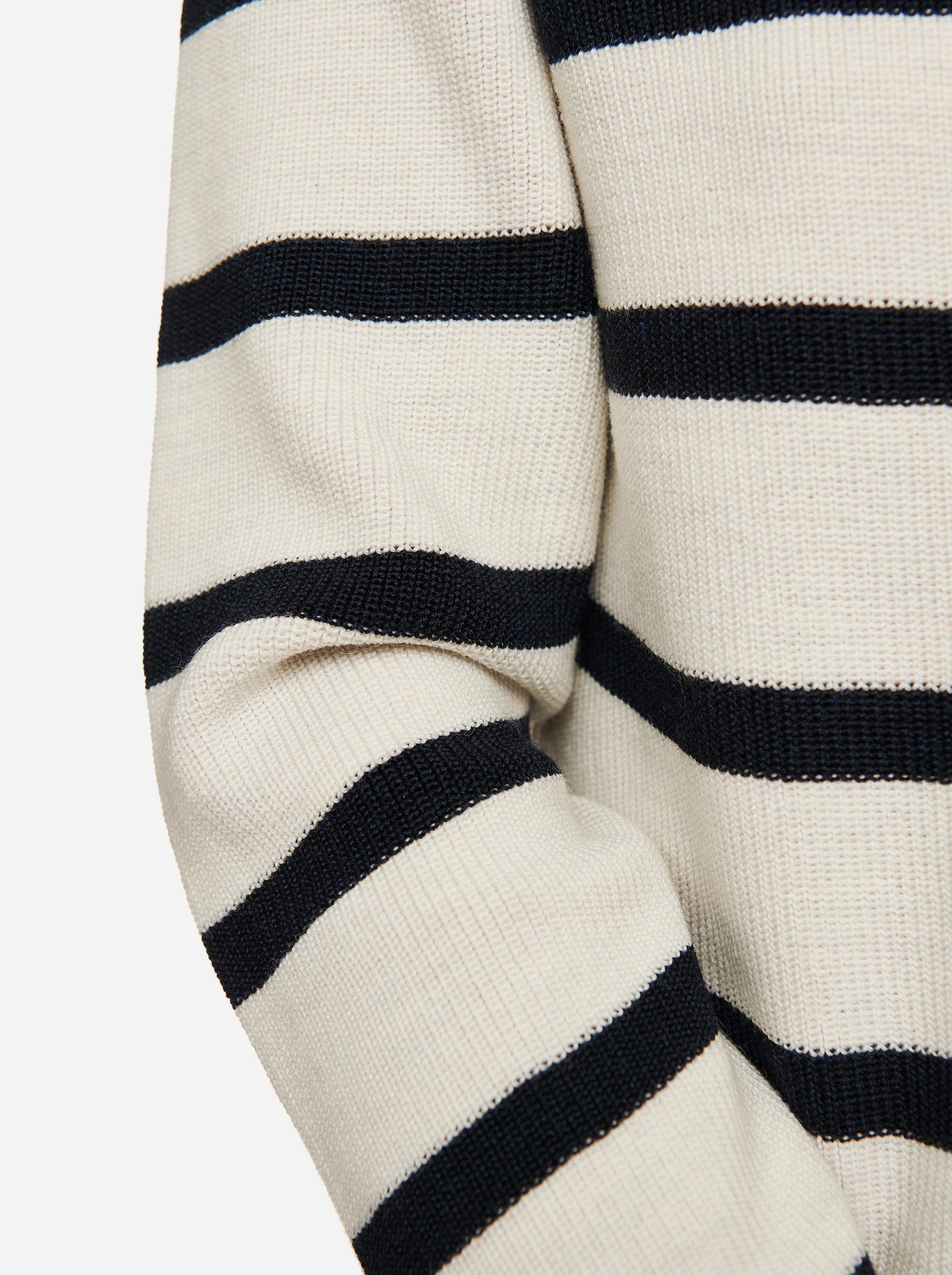 Teym - Crewneck - The Merino Sweater - Women - Striped - 2