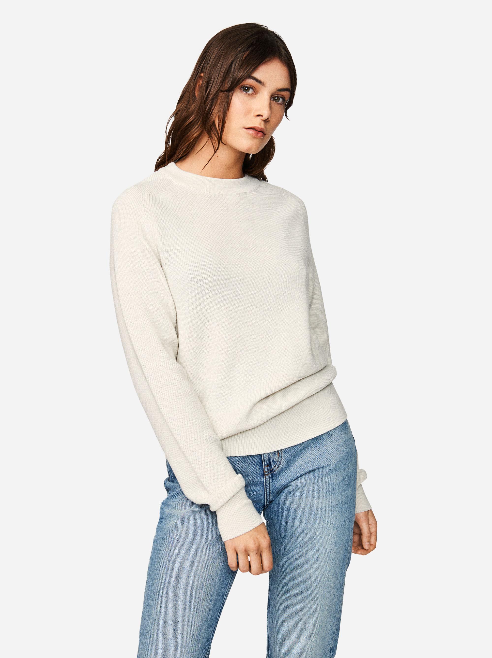 Teym - Crewneck - The Merino Sweater - Women - White - 2