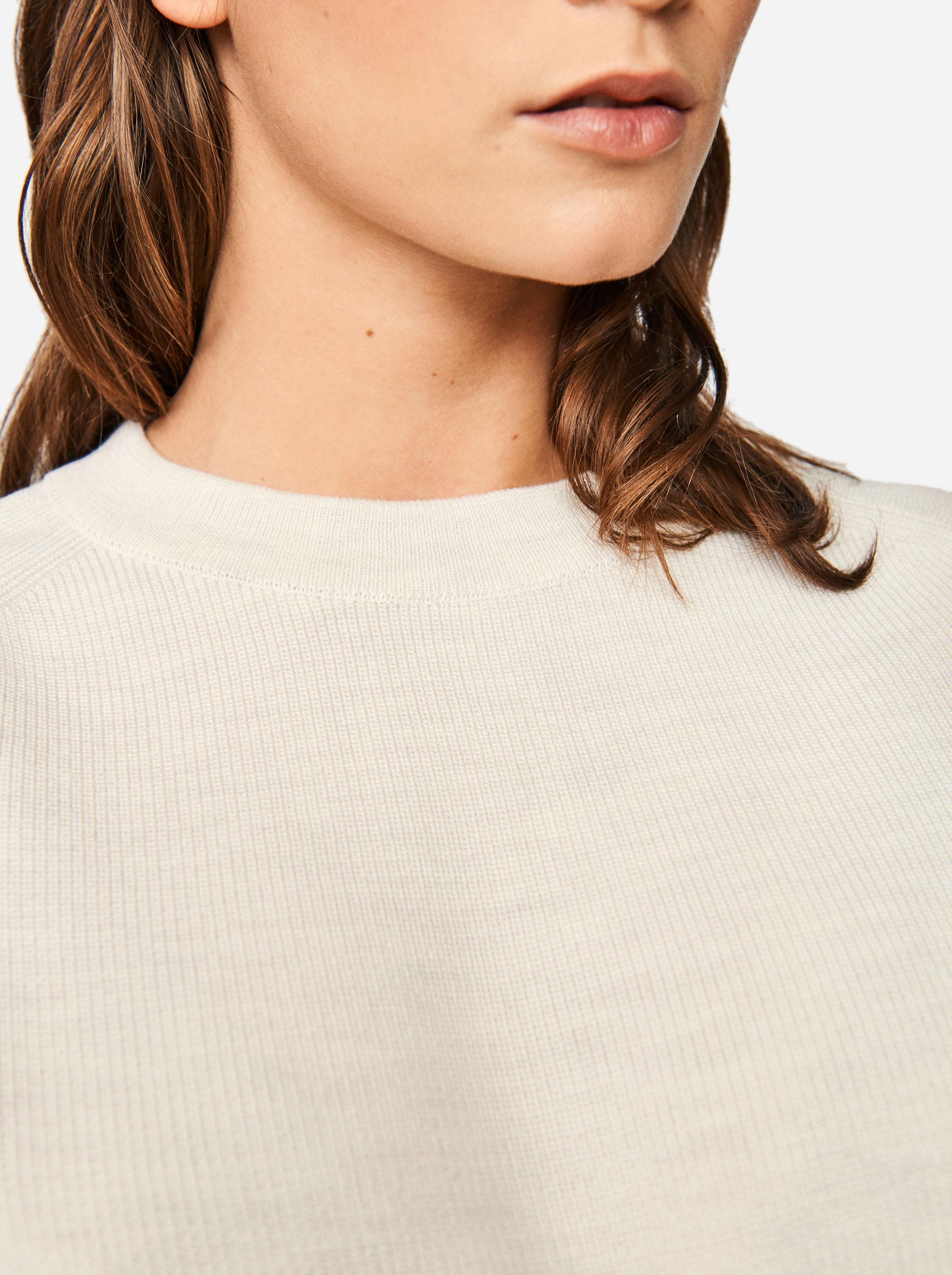 Teym - Crewneck - The Merino Sweater - Women - White - 3