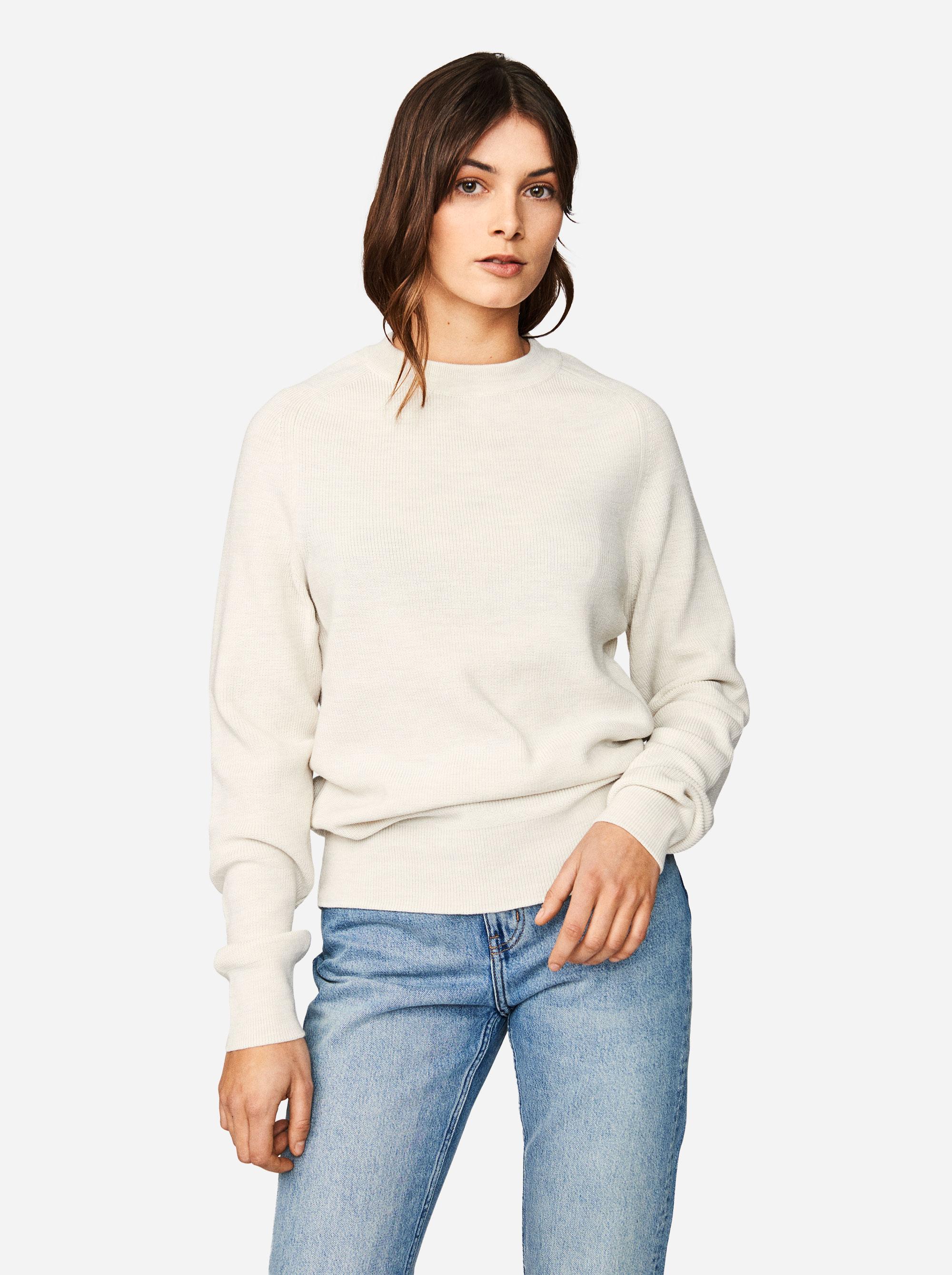 Teym - Crewneck - The Merino Sweater - Women - White - 4