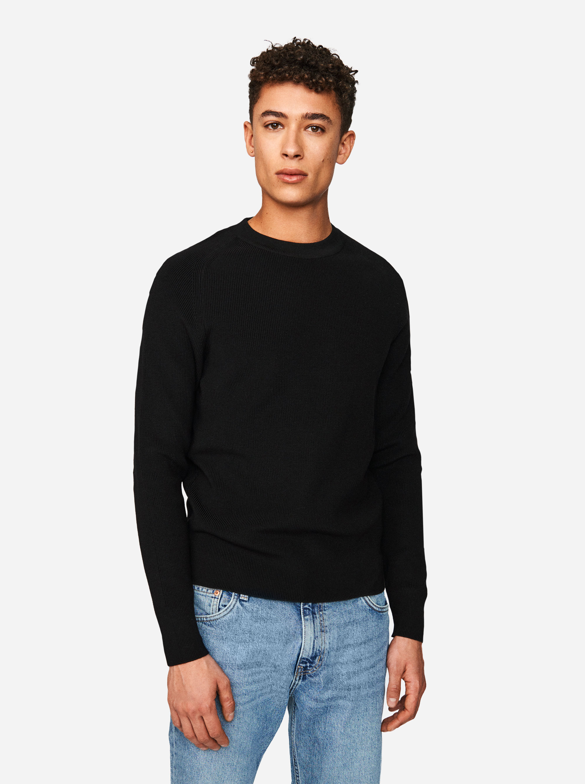 Teym - The Merino Sweater - Men - Black - 3