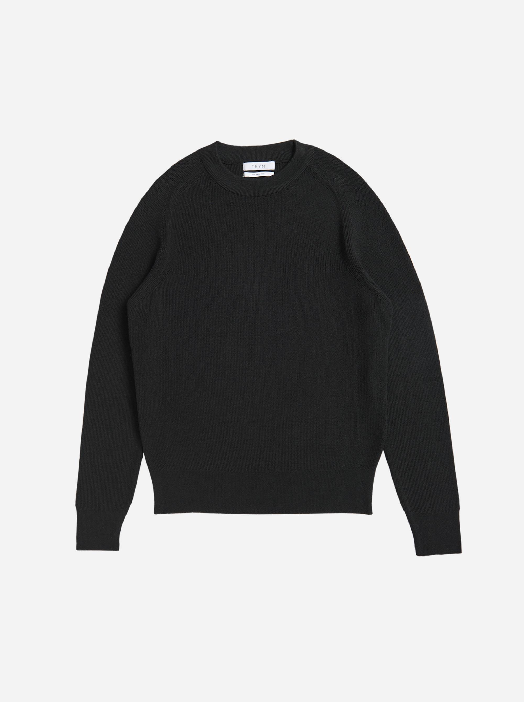 Teym - The Merino Sweater - Men - Black - 4