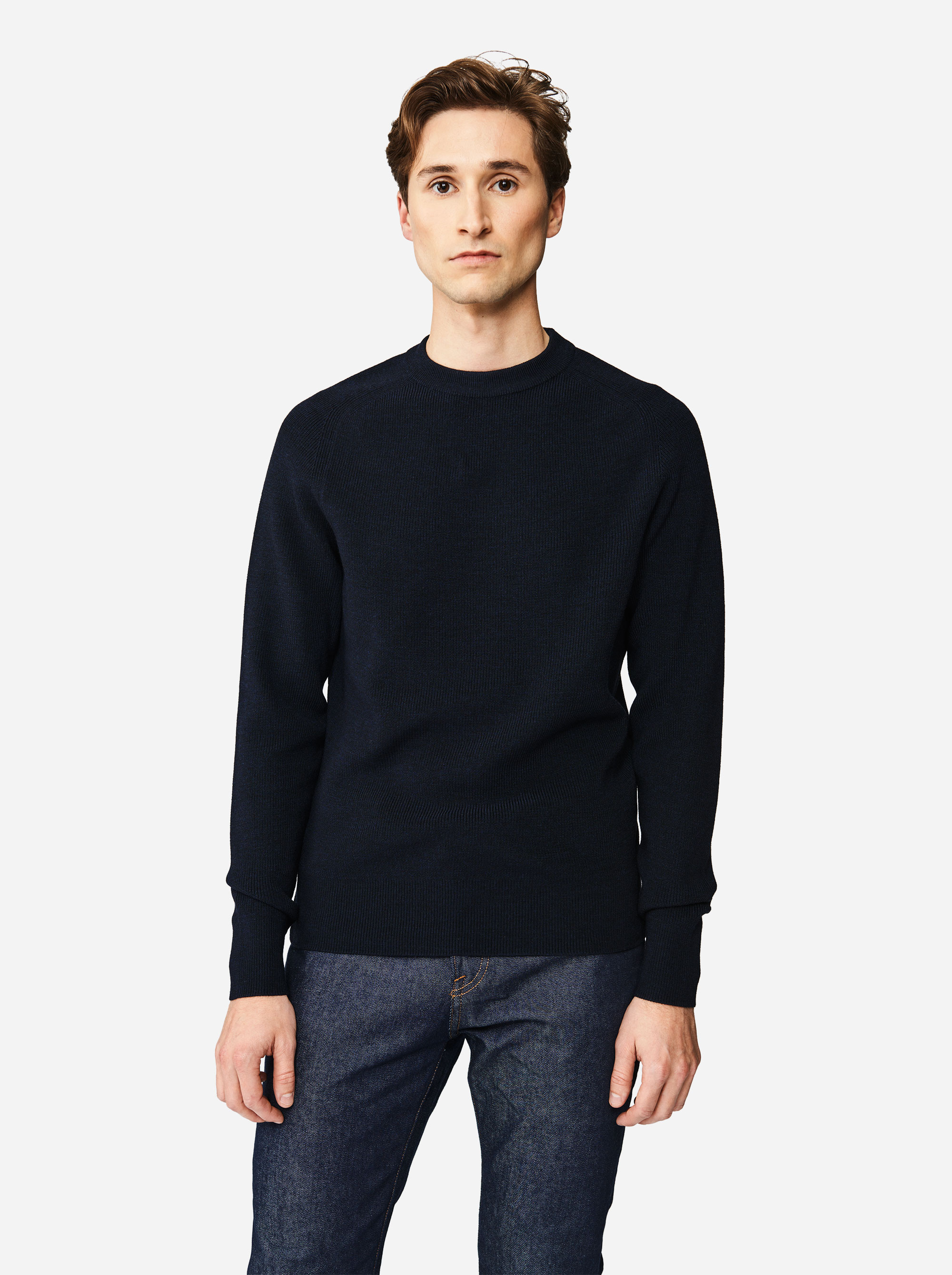 Teym - The Merino Sweater - Men - Blue - 1