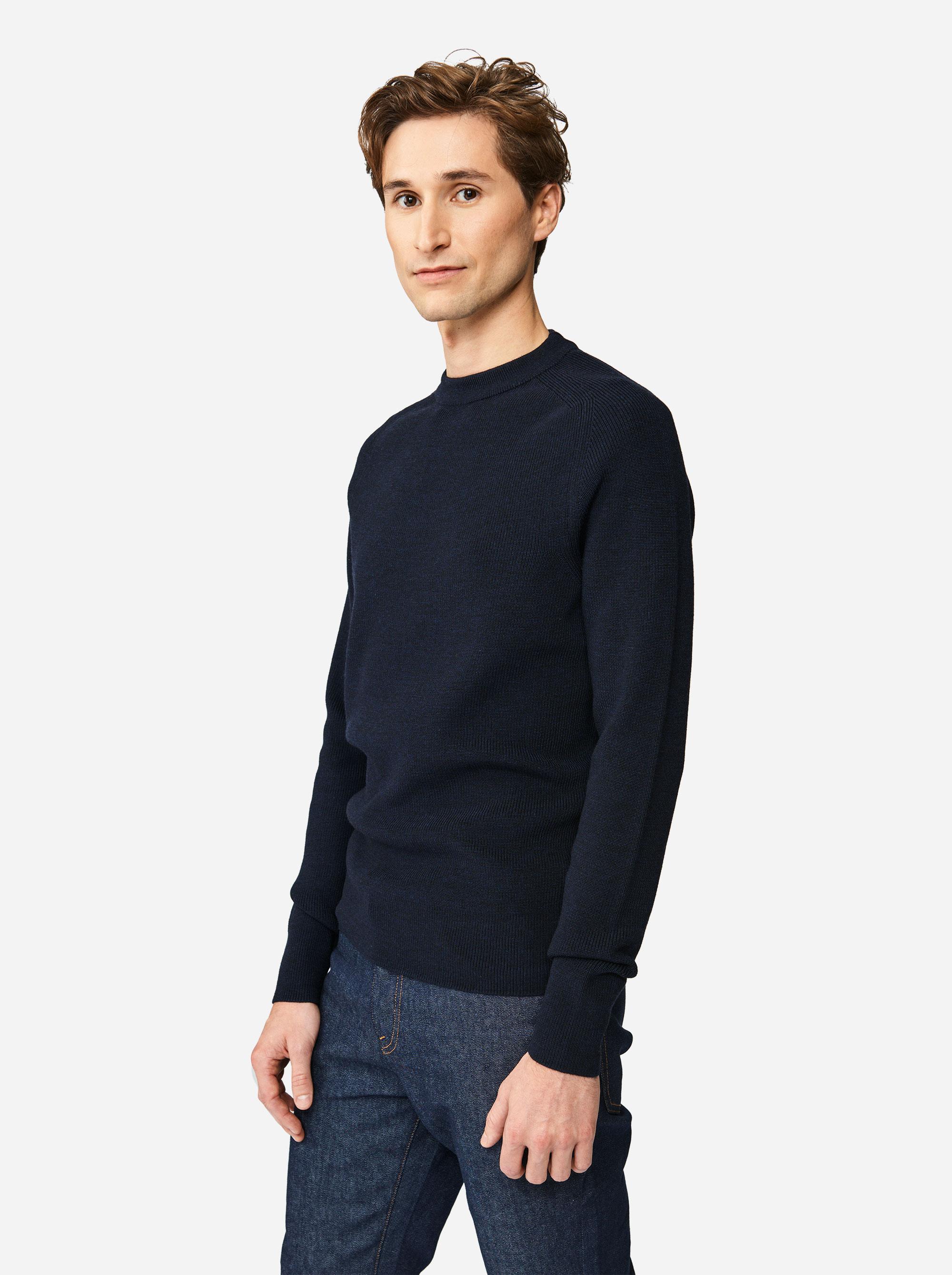 Teym - The Merino Sweater - Men - Blue - 2