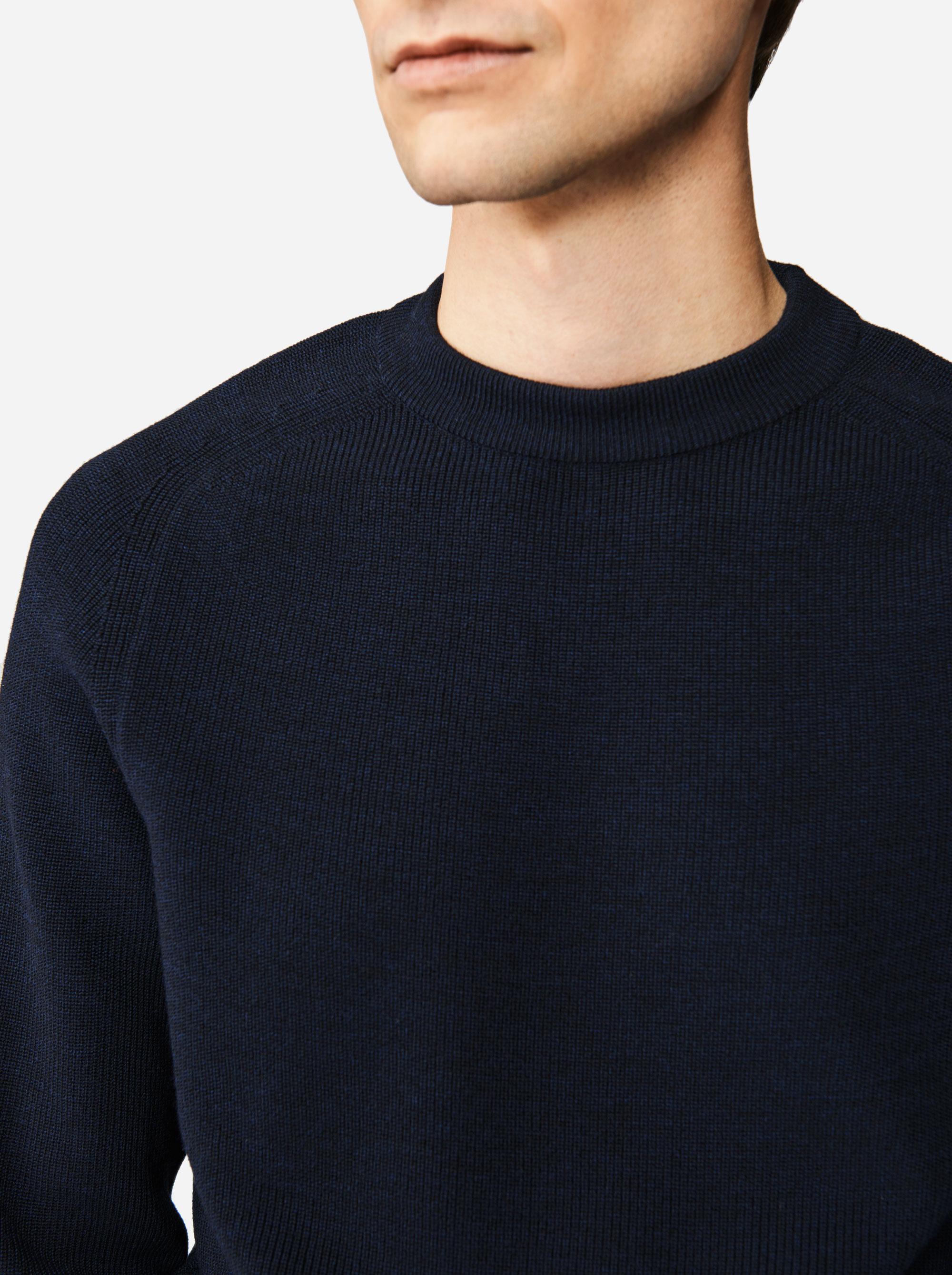 Teym - The Merino Sweater - Men - Blue - 3