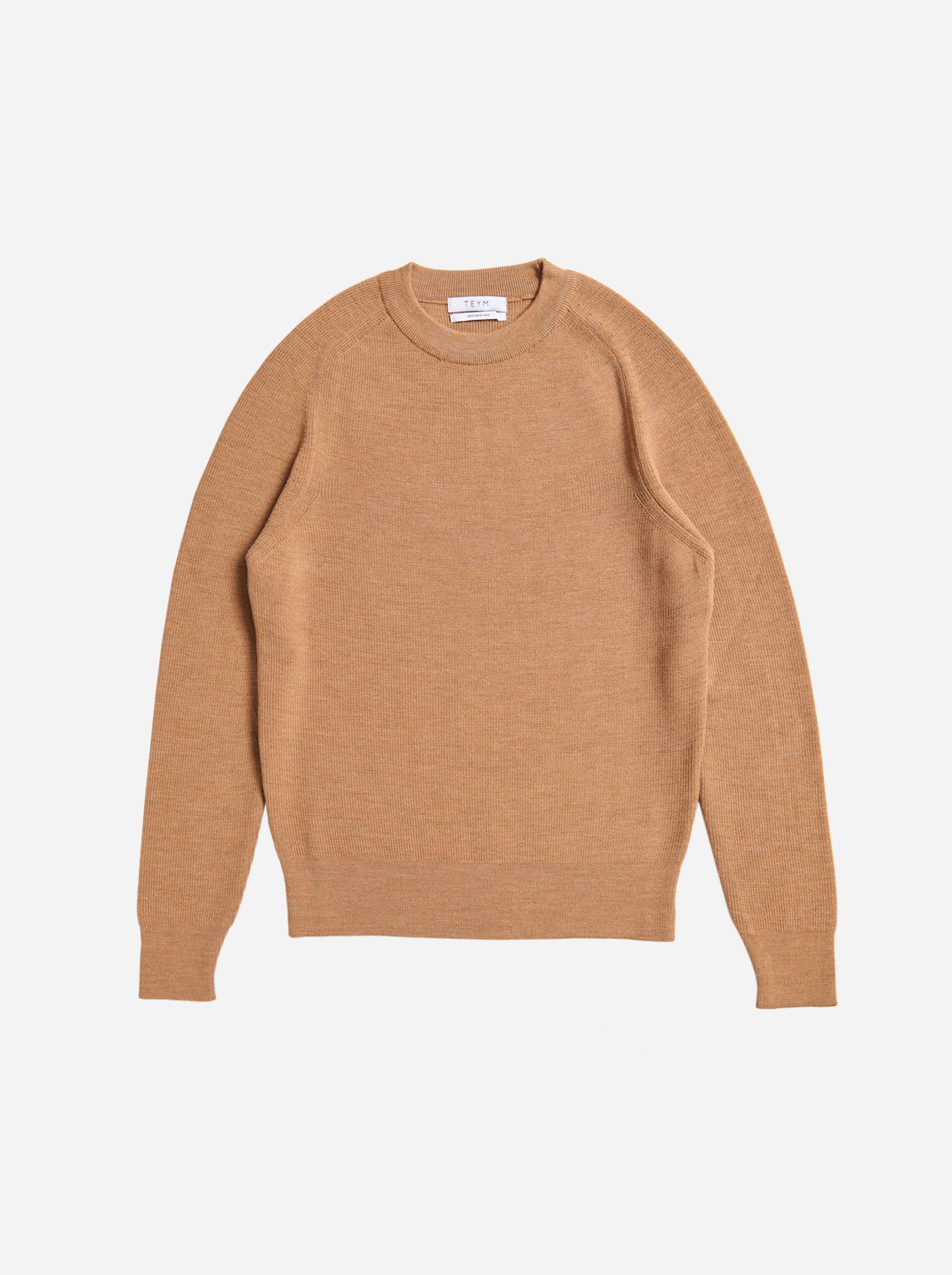 Teym - The Merino Sweater - Men - Camel - 4
