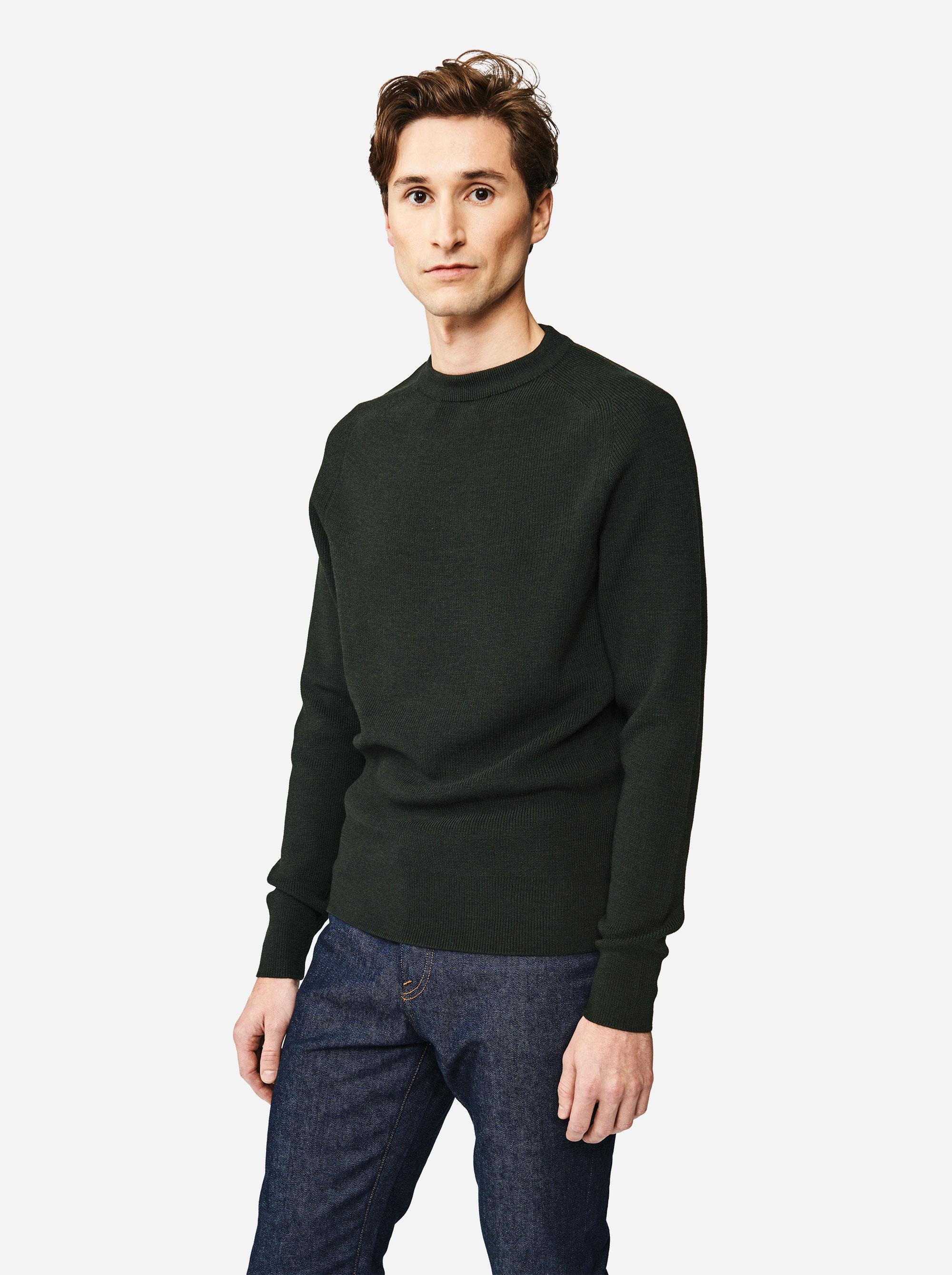 Teym - The Merino Sweater - Men - Green - 1