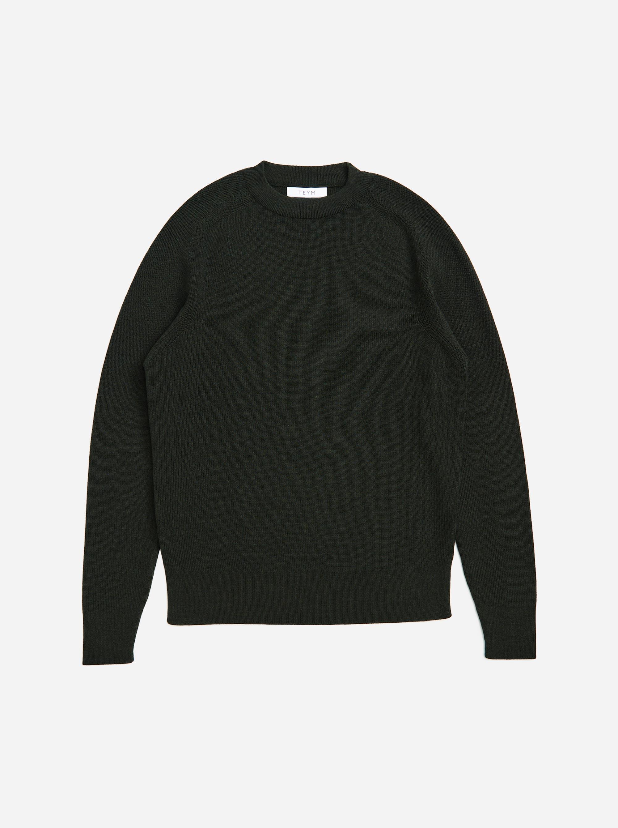Teym - The Merino Sweater - Men - Green - 4