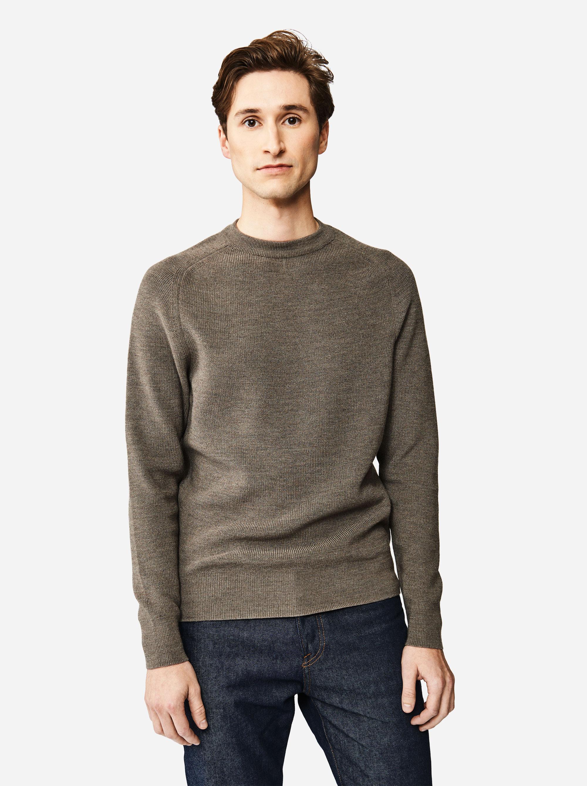 Teym - The Merino Sweater - Men - Grey - 1