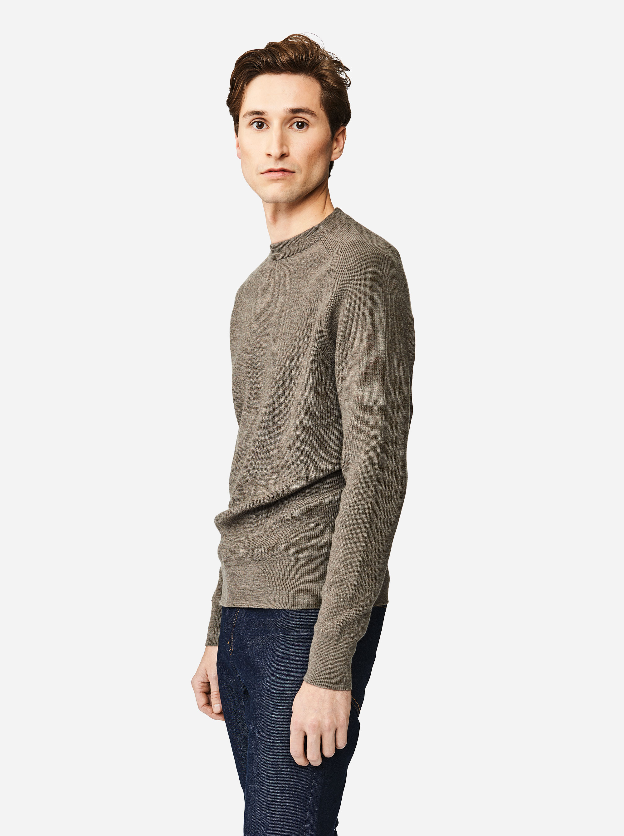 Teym - The Merino Sweater - Men - Grey - 2