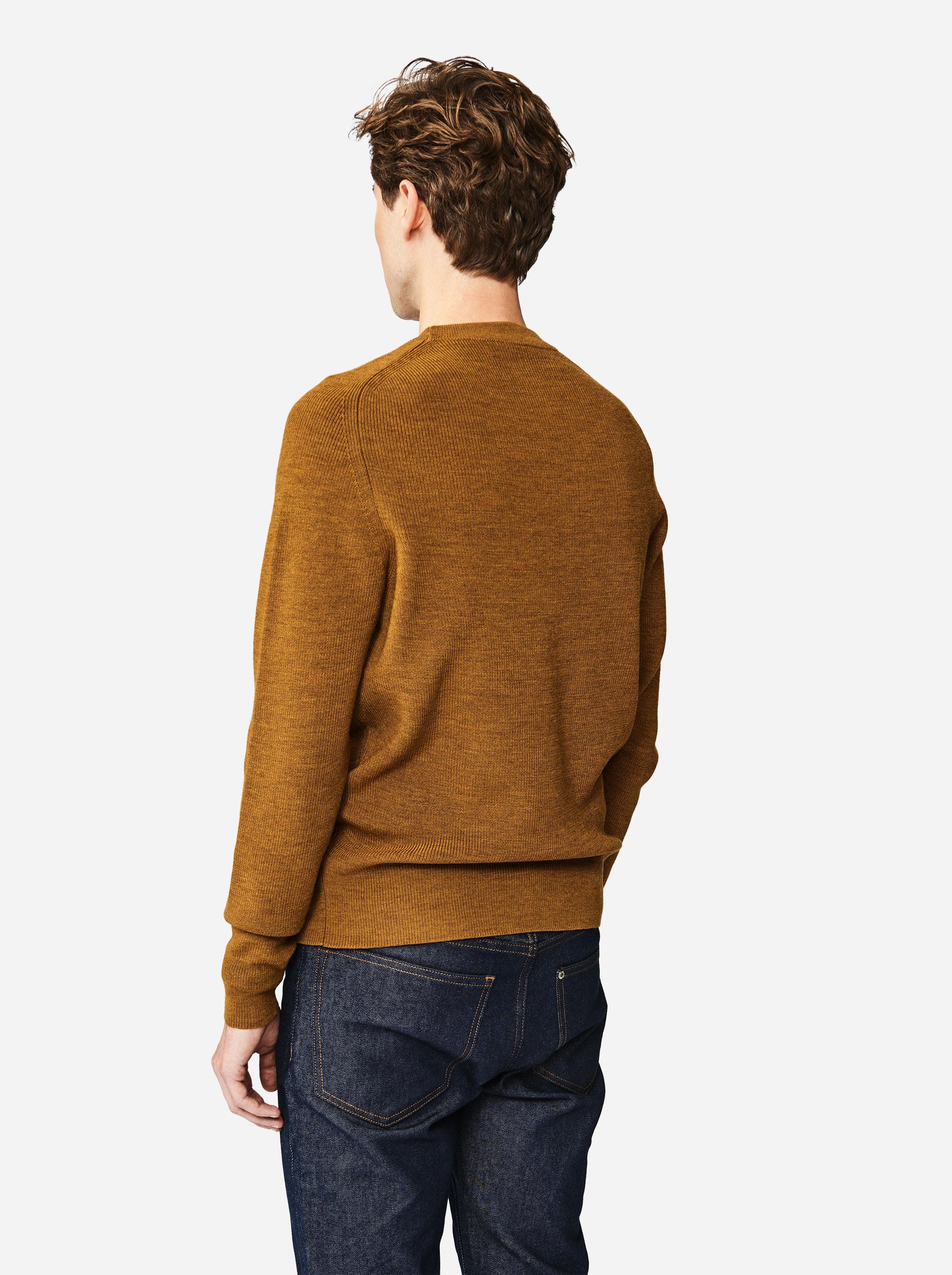 Teym - The Merino Sweater - Men - Mustard - 1