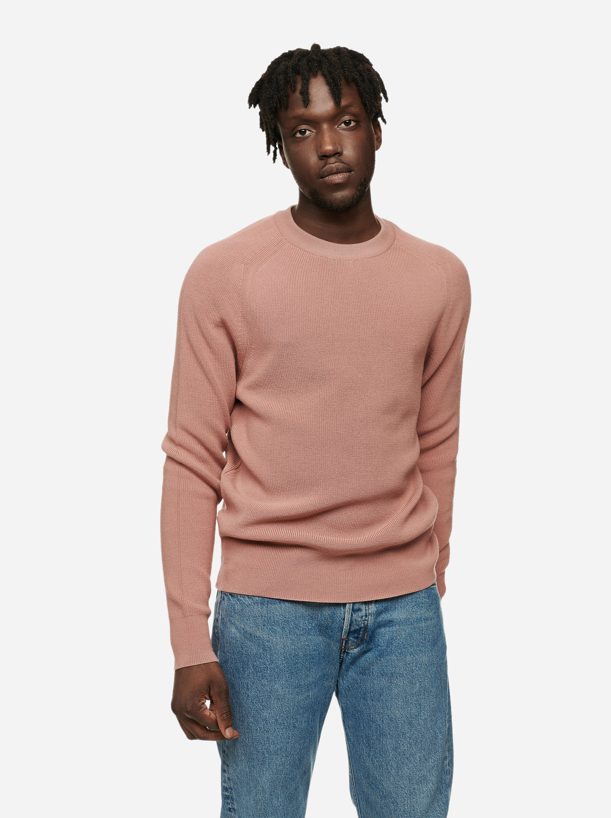 Teym - The Merino Sweater - Men - Pink - 2