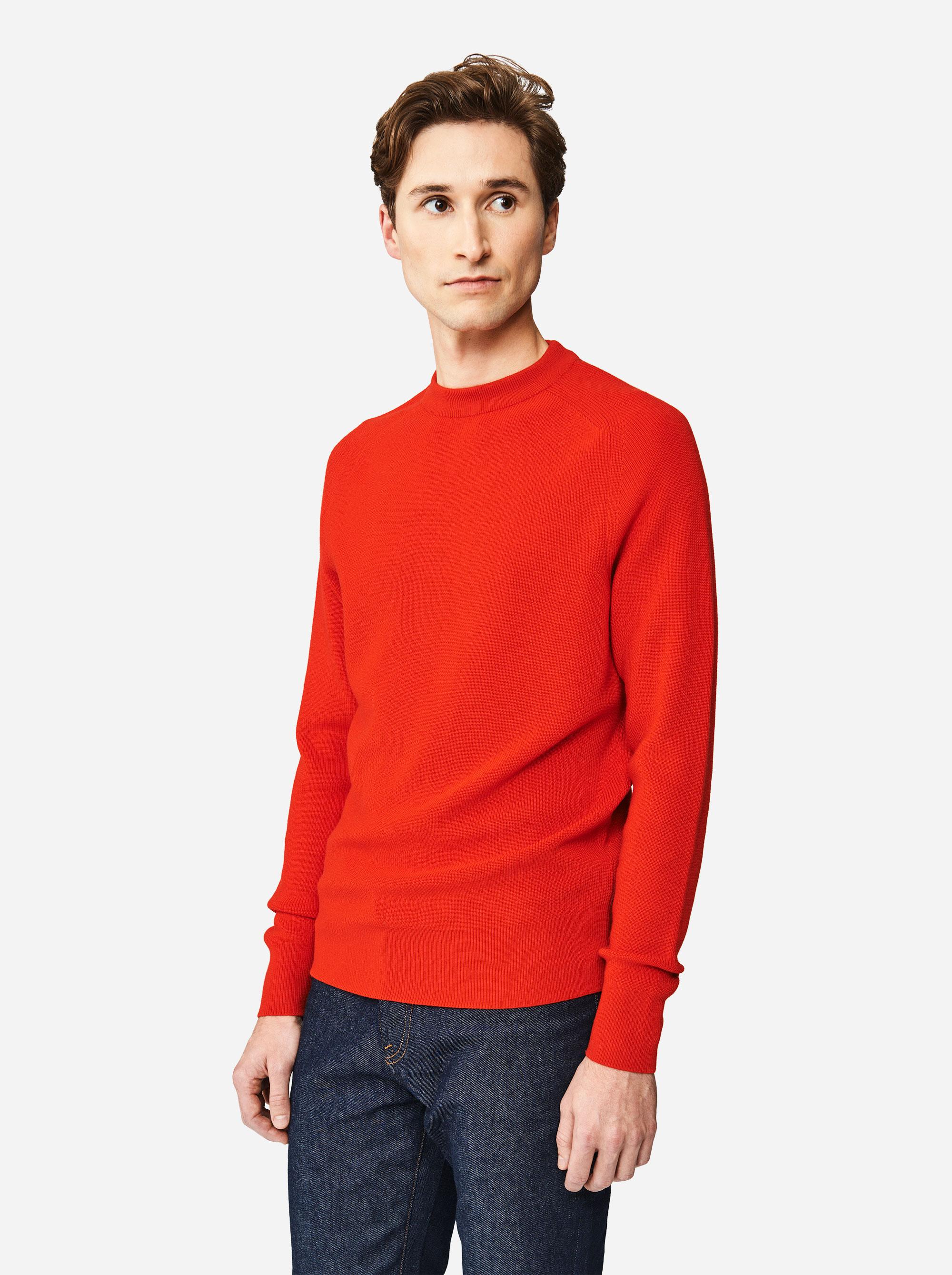 Teym - The Merino Sweater - Men - Red - 2