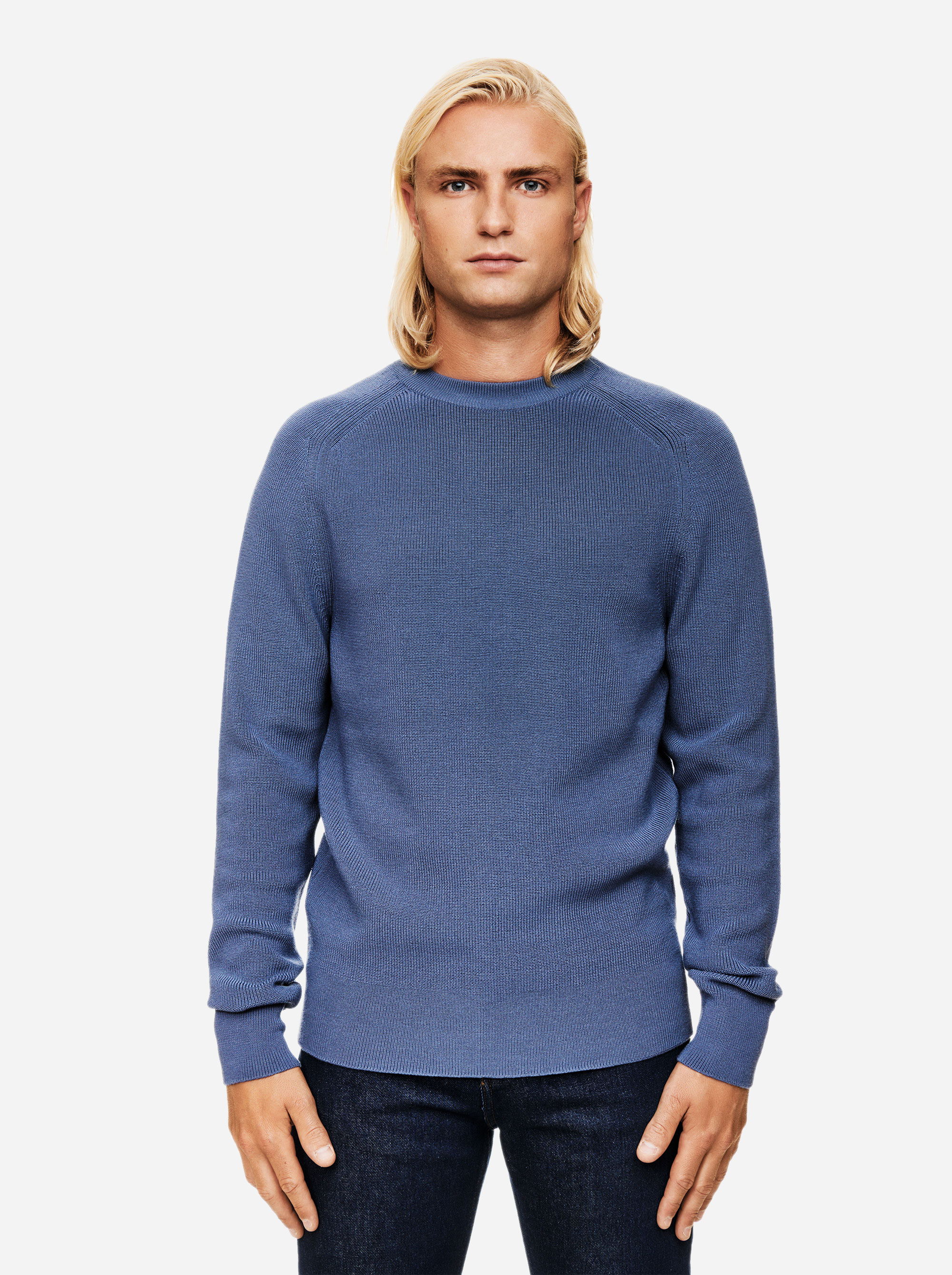 Teym - The Merino Sweater - Men - Sky blue - 1