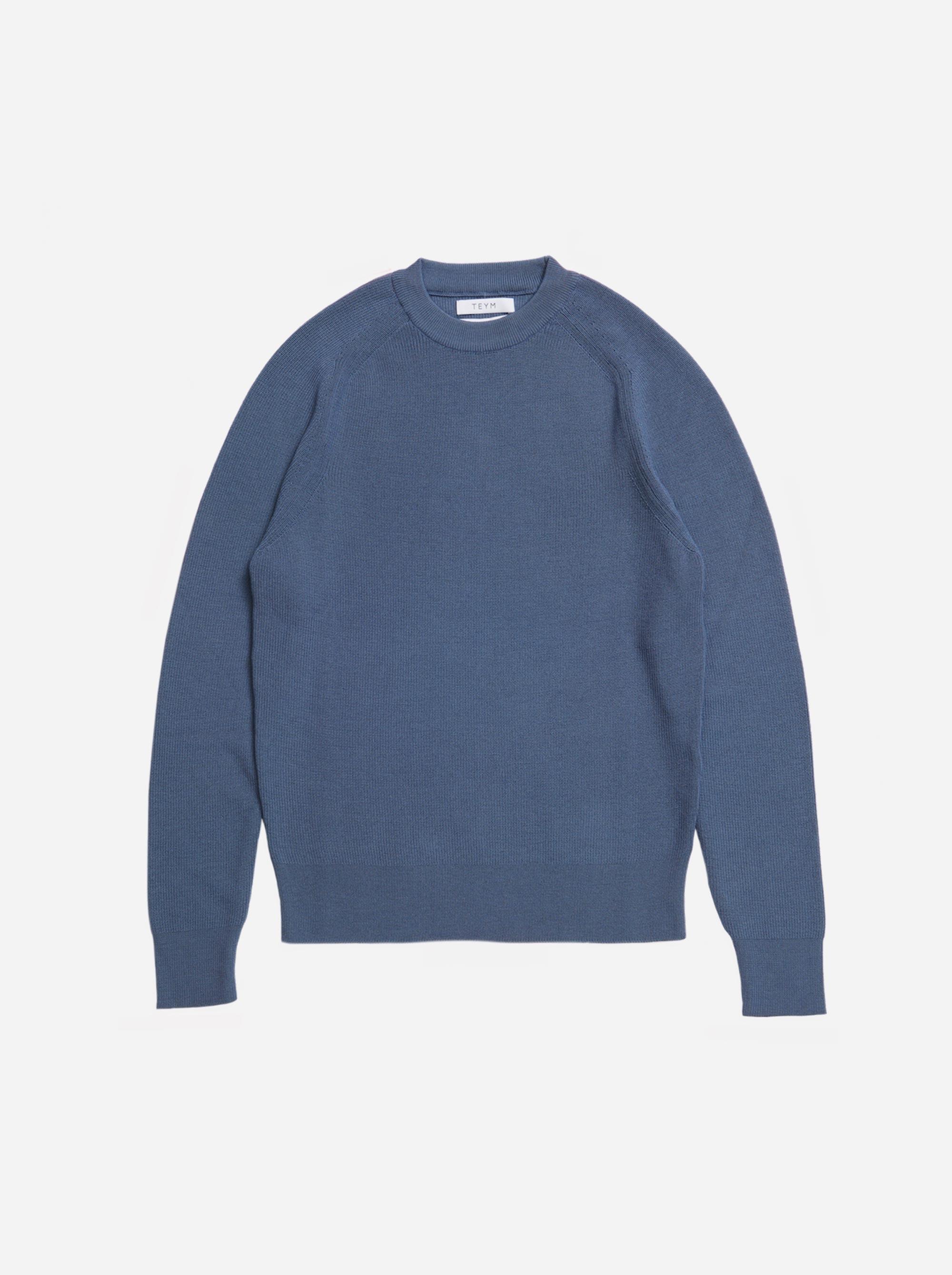 Teym - The Merino Sweater - Men - Sky blue - 4