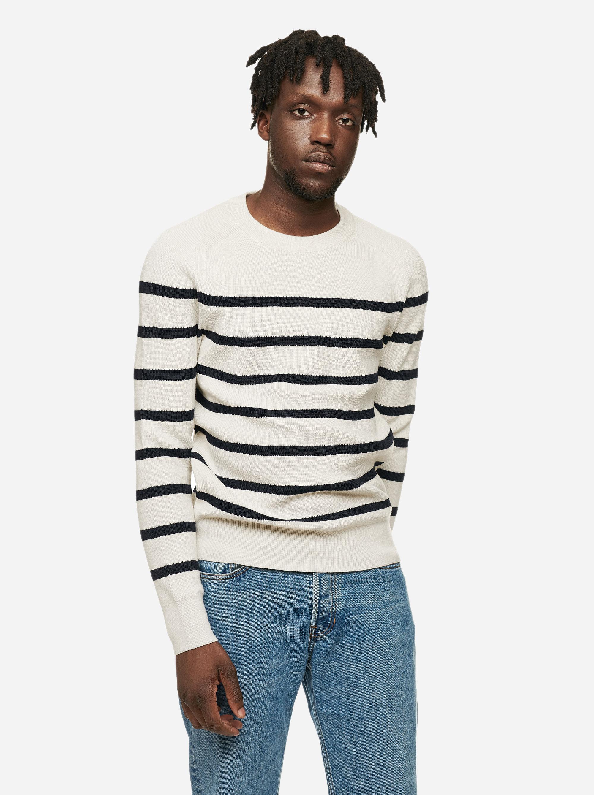 Teym - The Merino Sweater - Men - Striped - 2