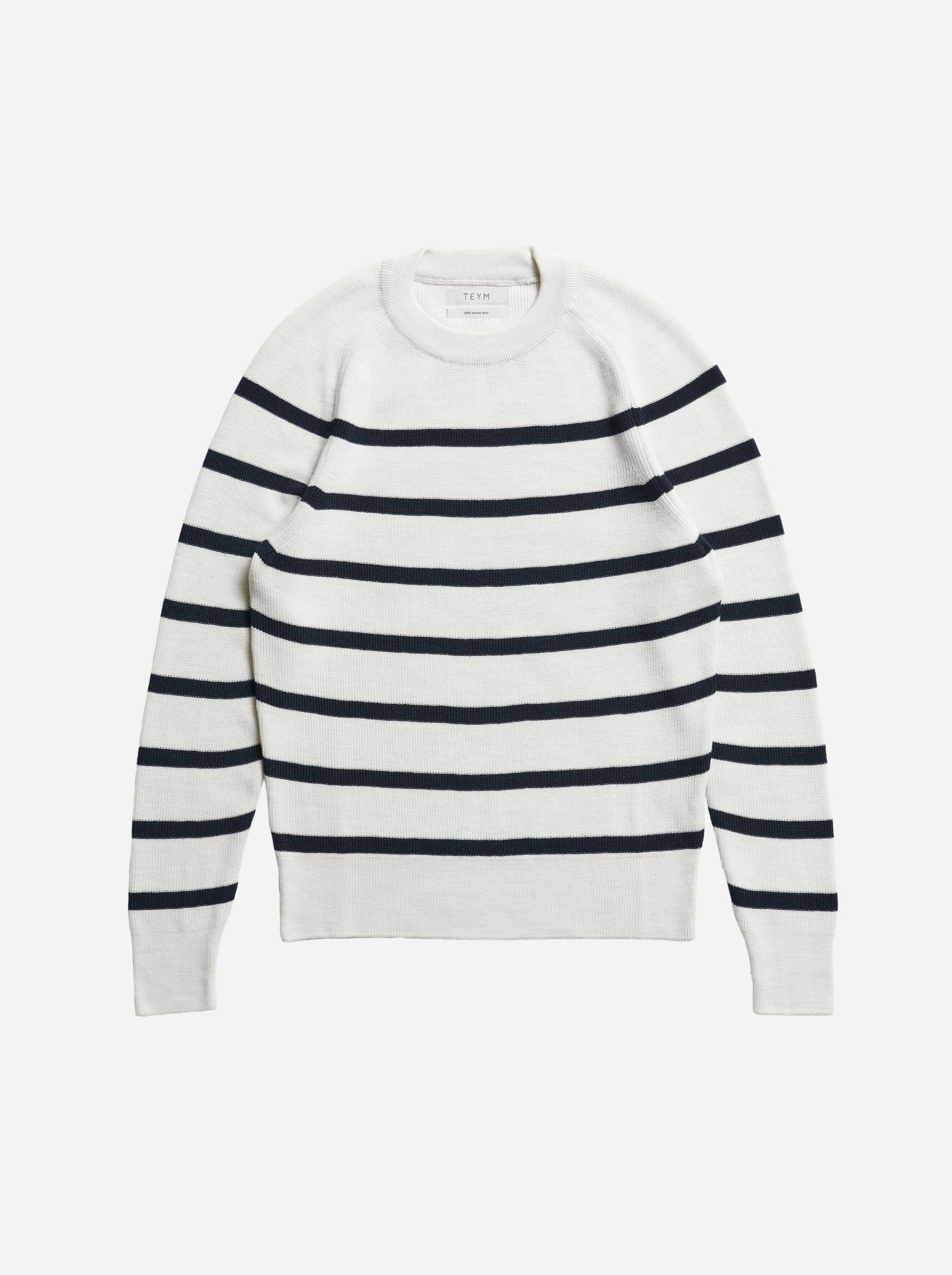 Teym - The Merino Sweater - Men - Striped - 4