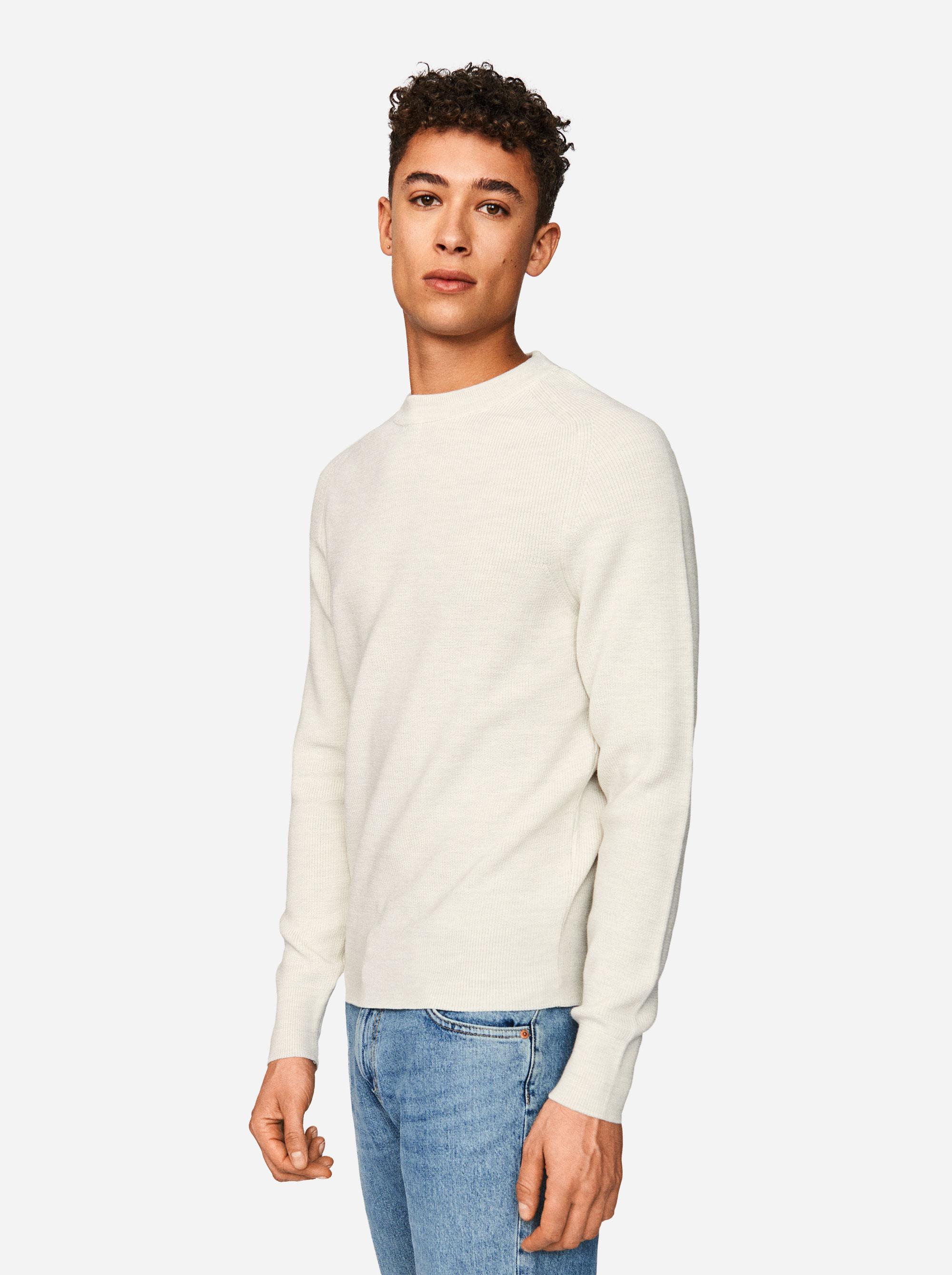 Teym - The Merino Sweater - Men - White - 2