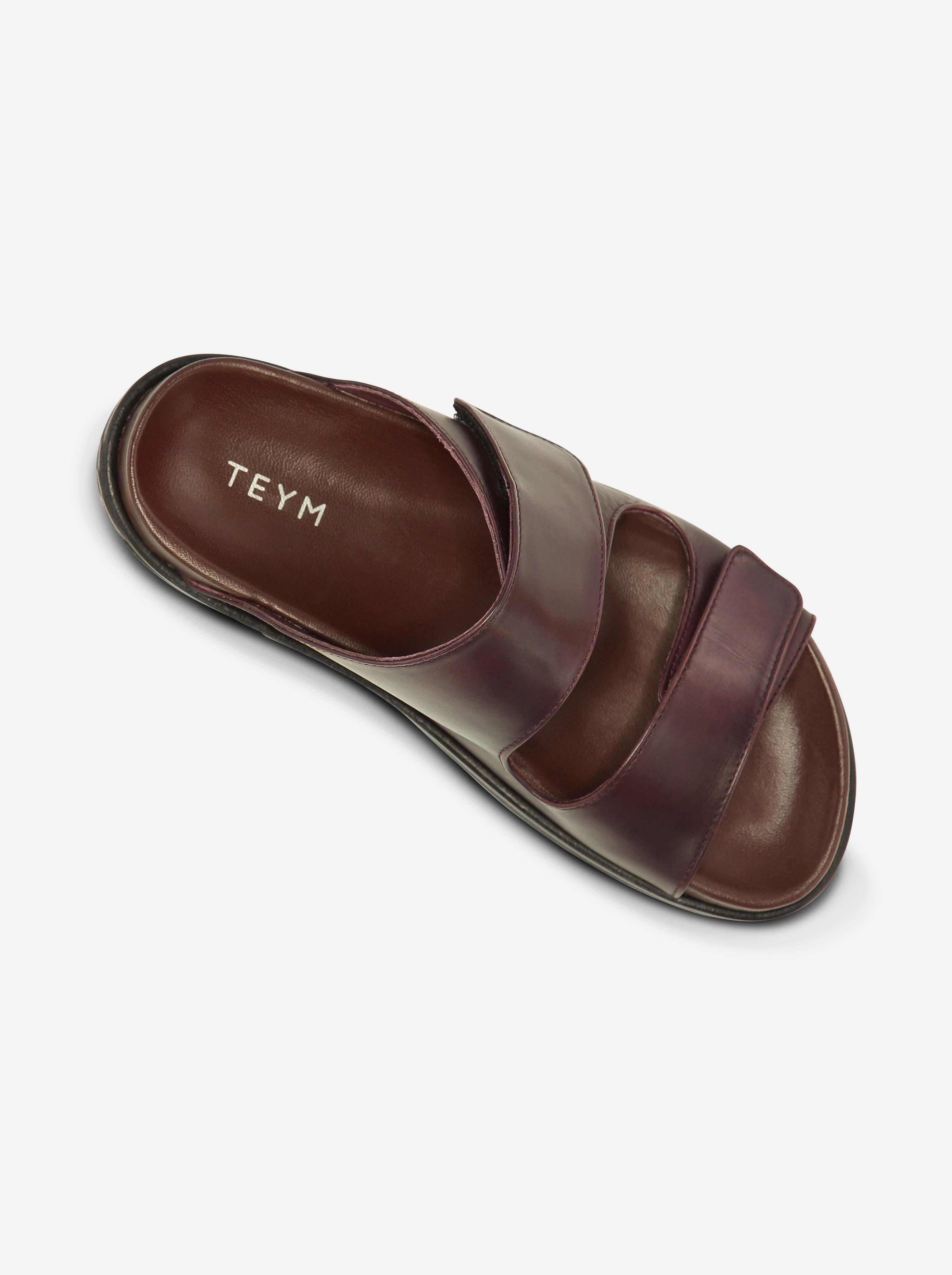 Teym - The Sandal - Burgundy - 6