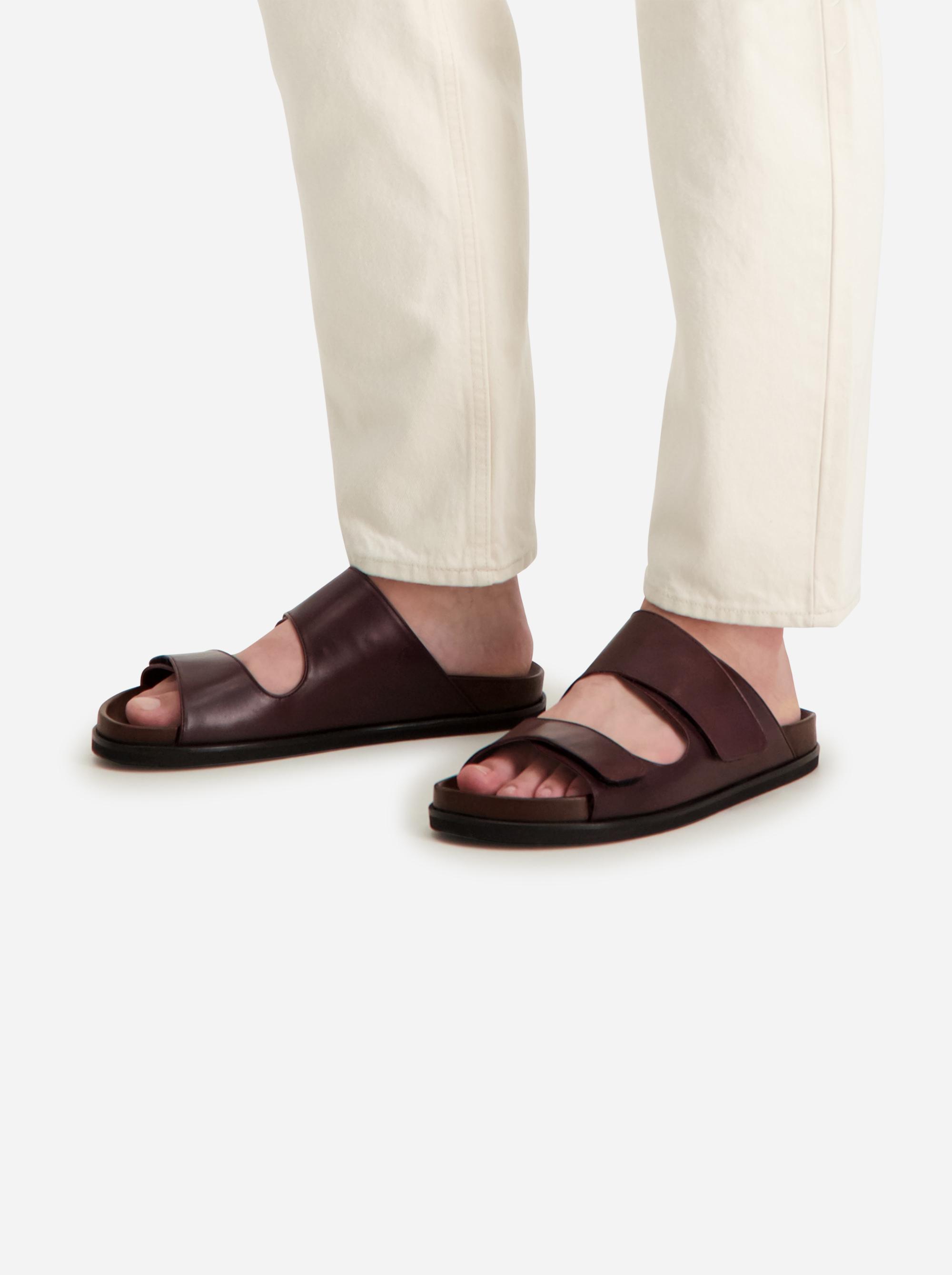 Teym - The Sandal - Burgundy - Men - 2